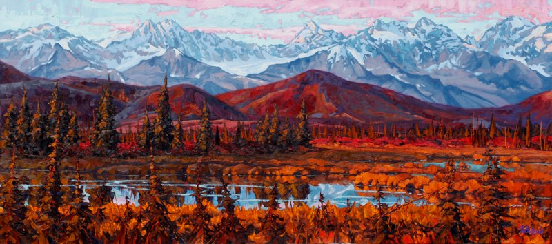 "Denali Range 32"" x 72"" oil on canvas SOLD"