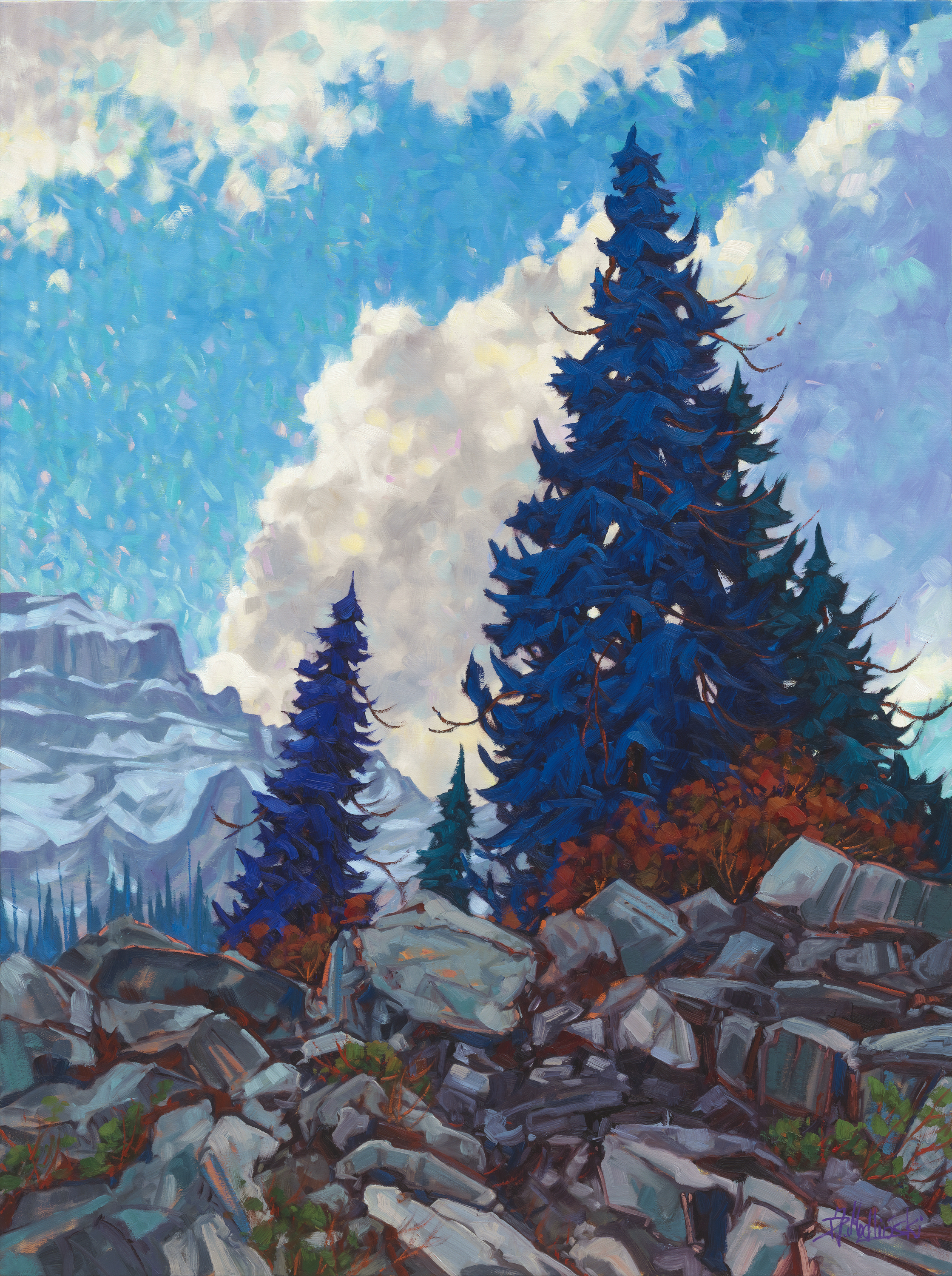 "Above Lake Moraine 48"" x 36"" oil on canvas"