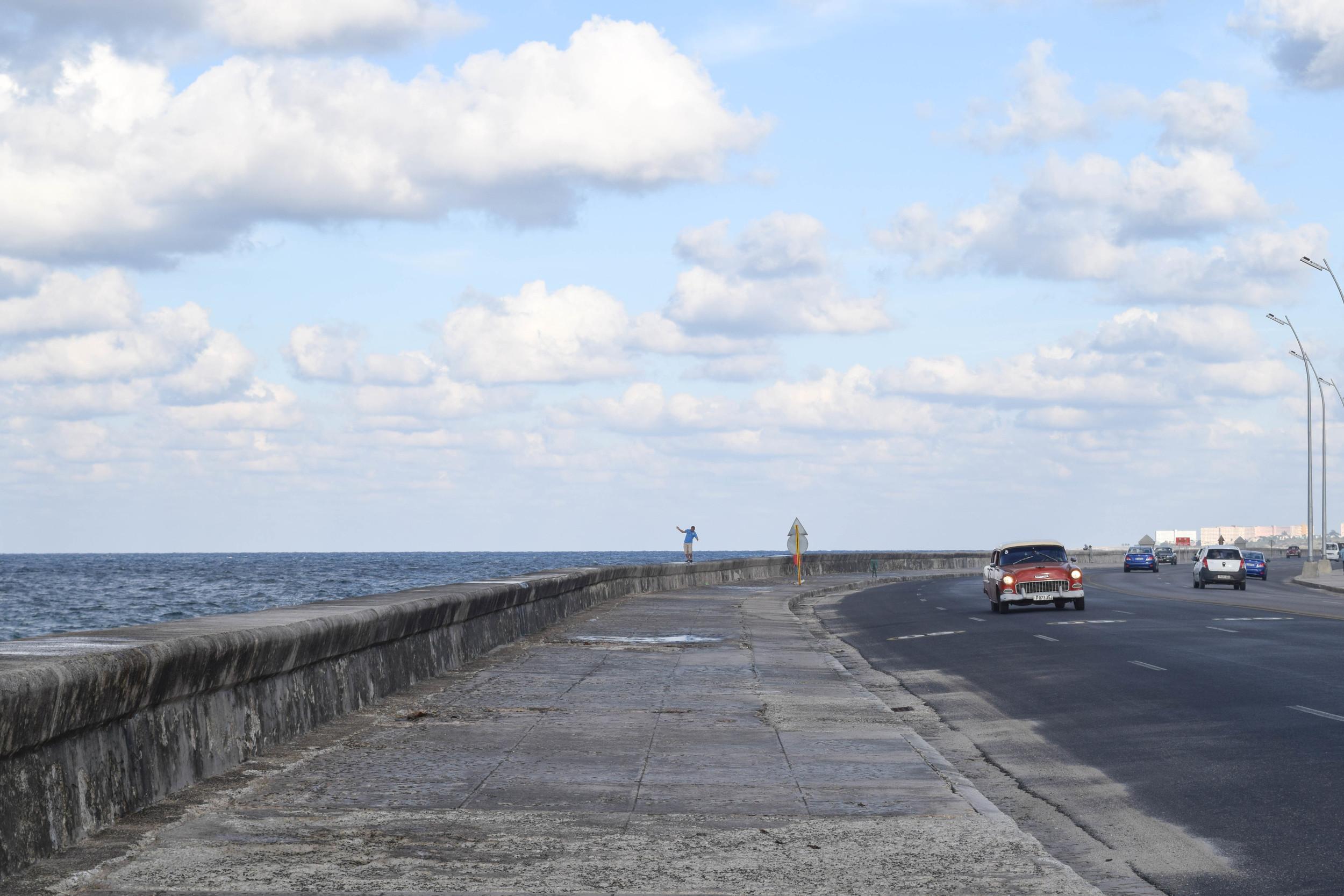 View down El Malecón