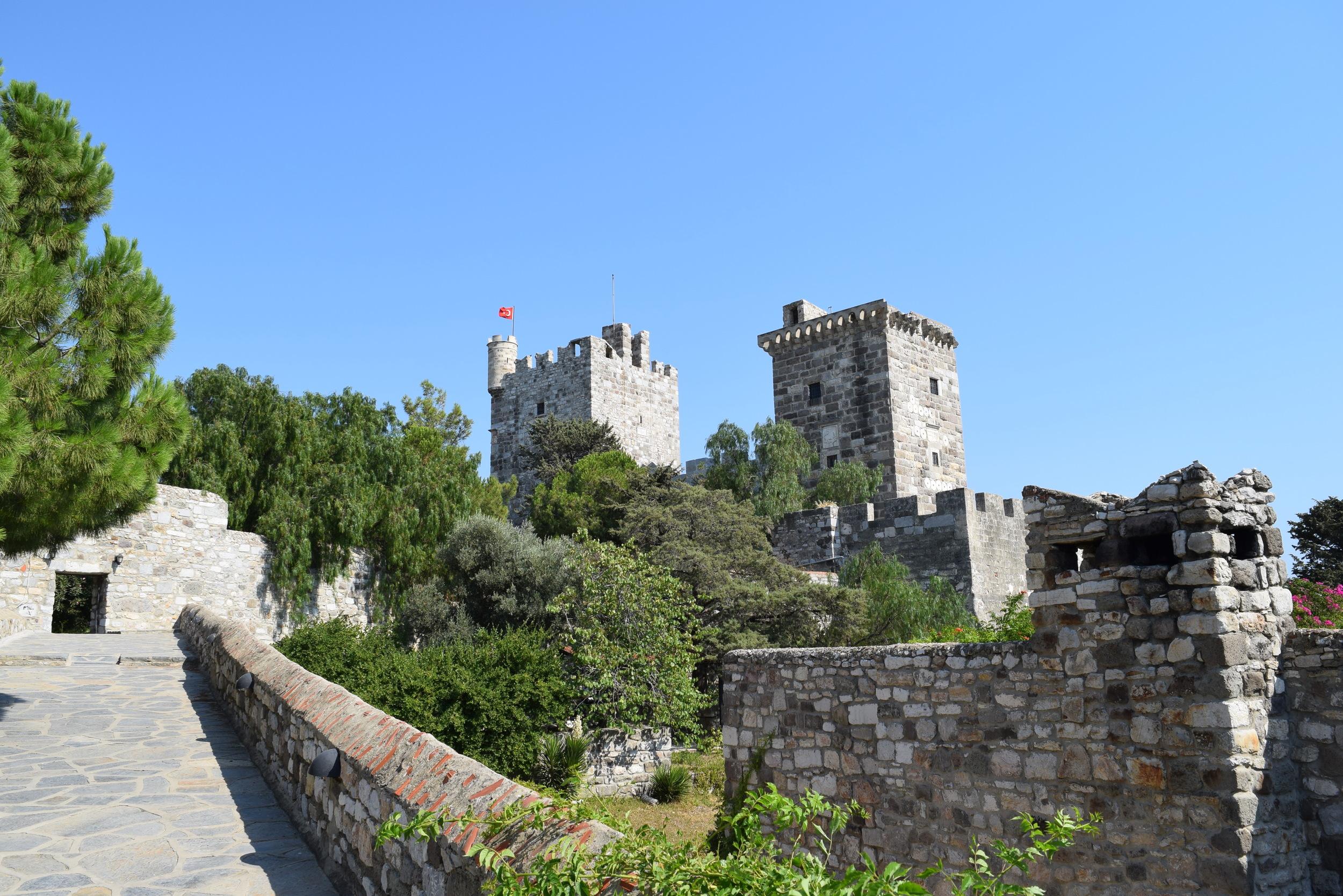 A view inside the castle