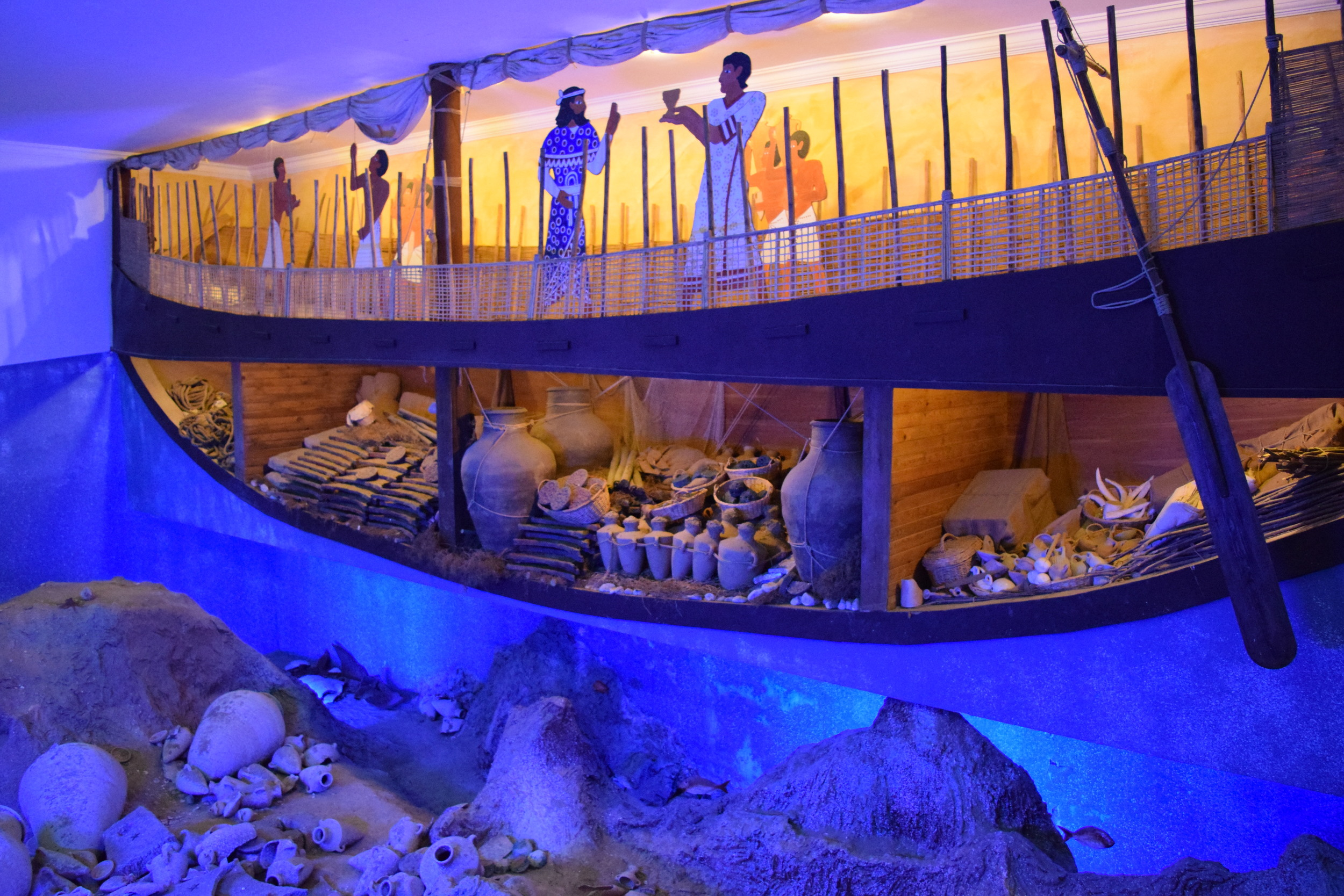 A display from the Underwater Archaeology Museum