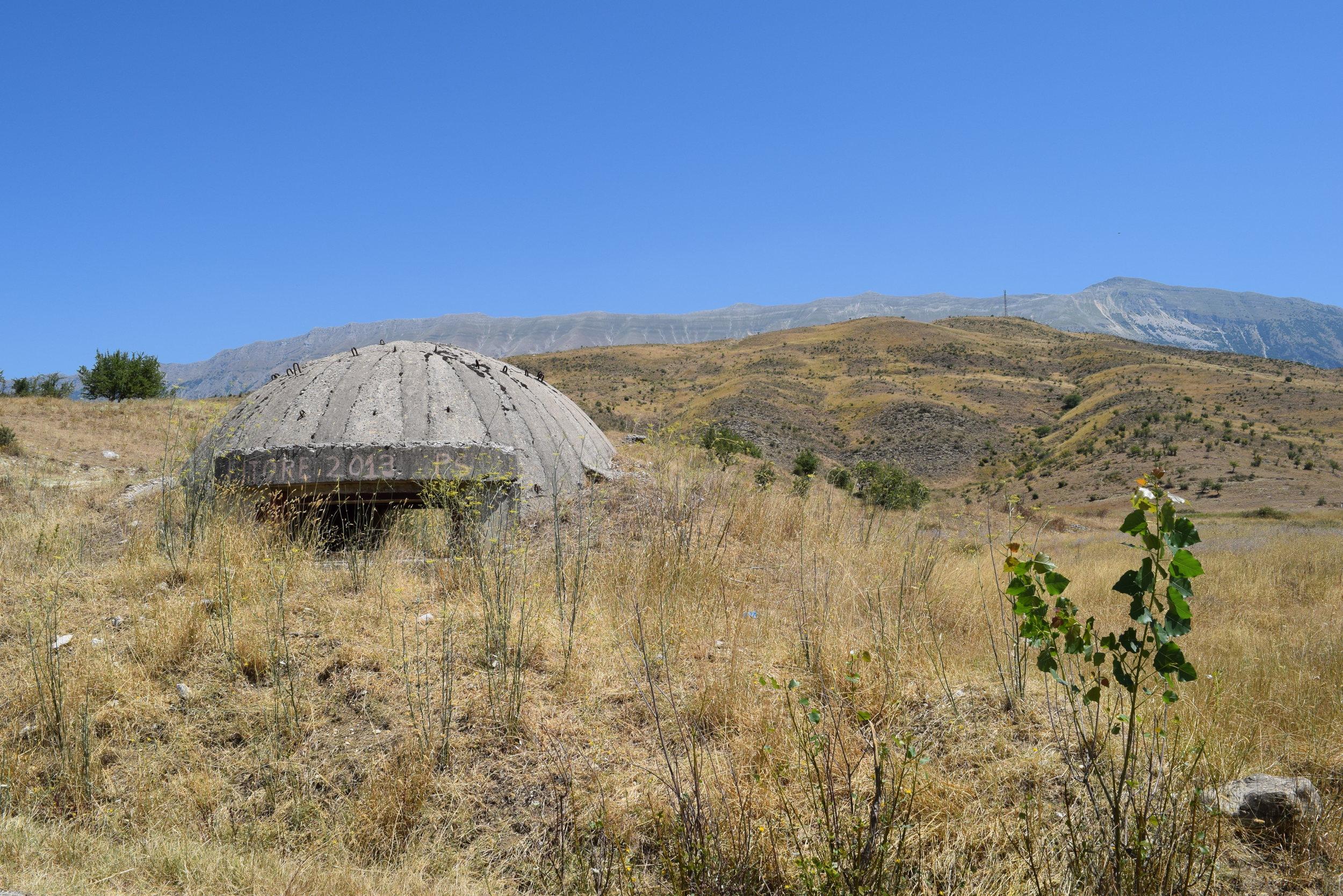 A typical bunker nearGjirokastër