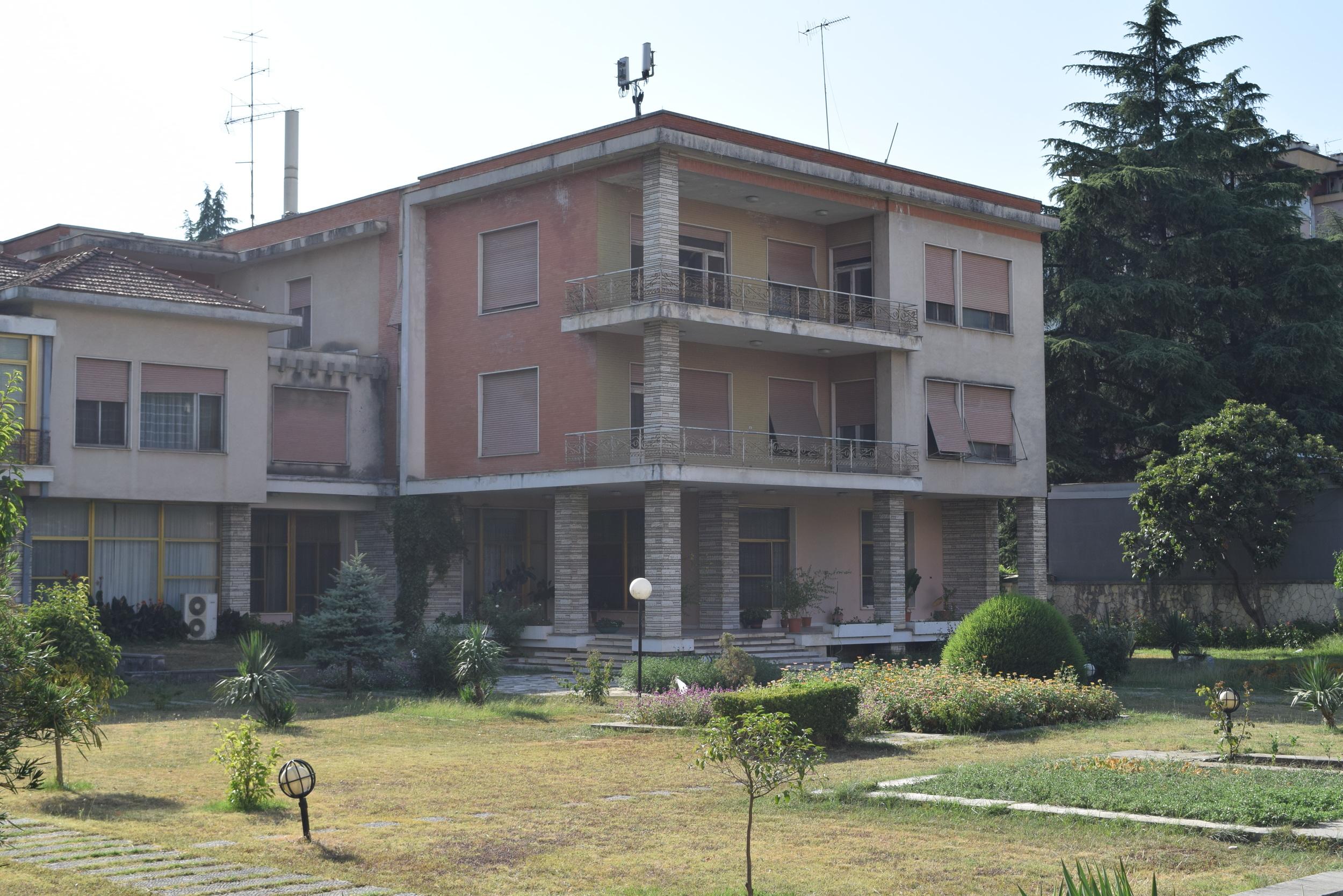 The back side of Enver Hoxha's residence