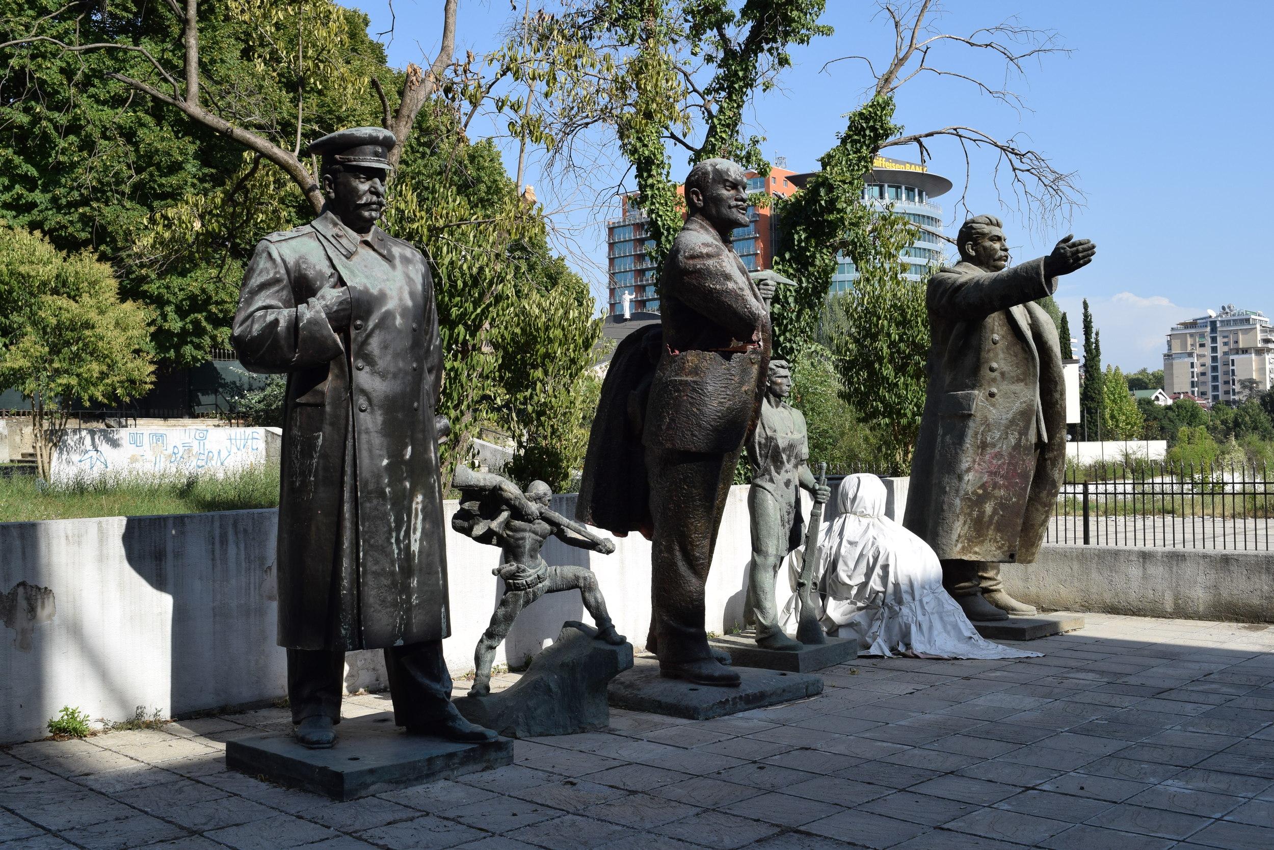 Communist statues in Tirana