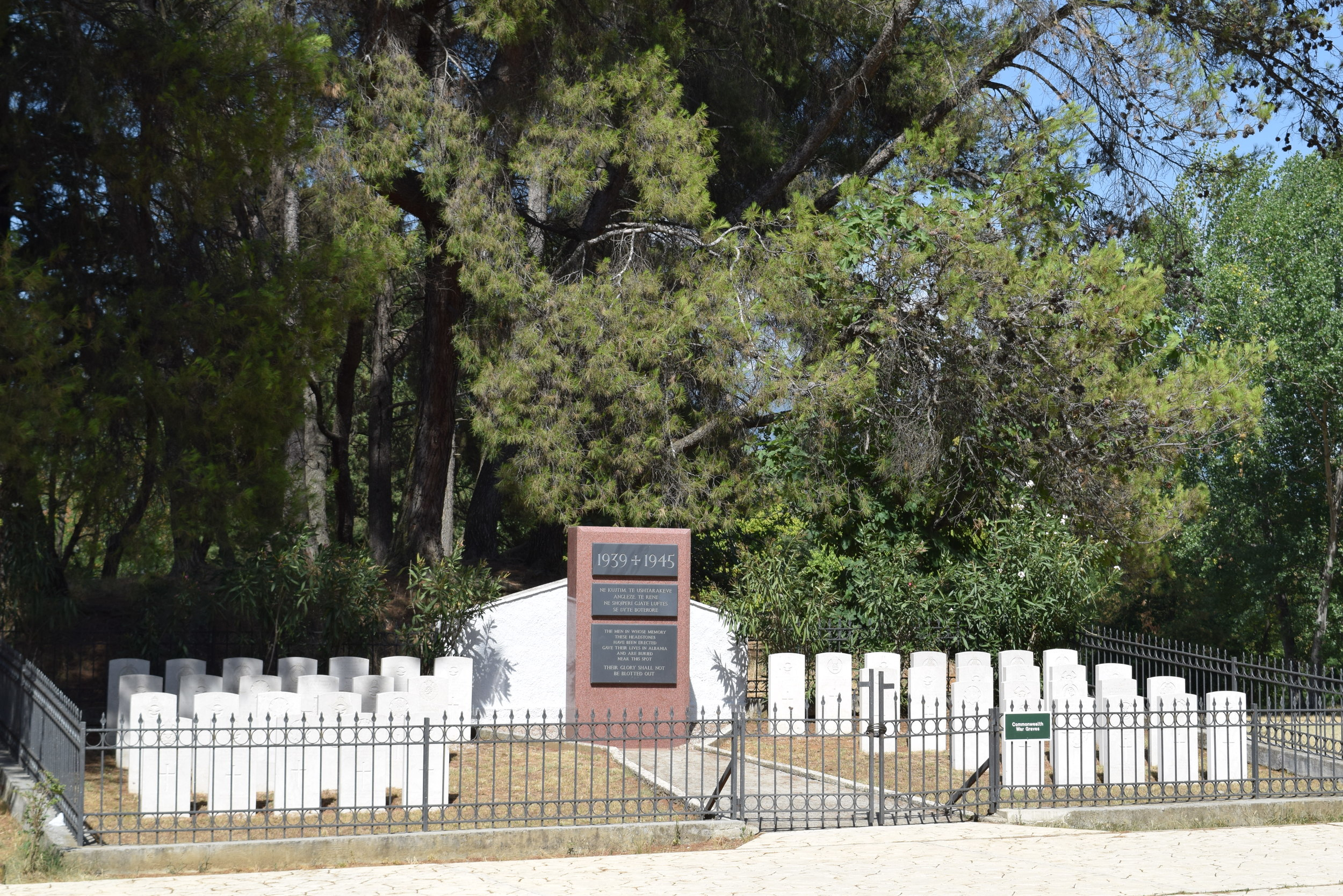 The Commonwealth cemetery in the park