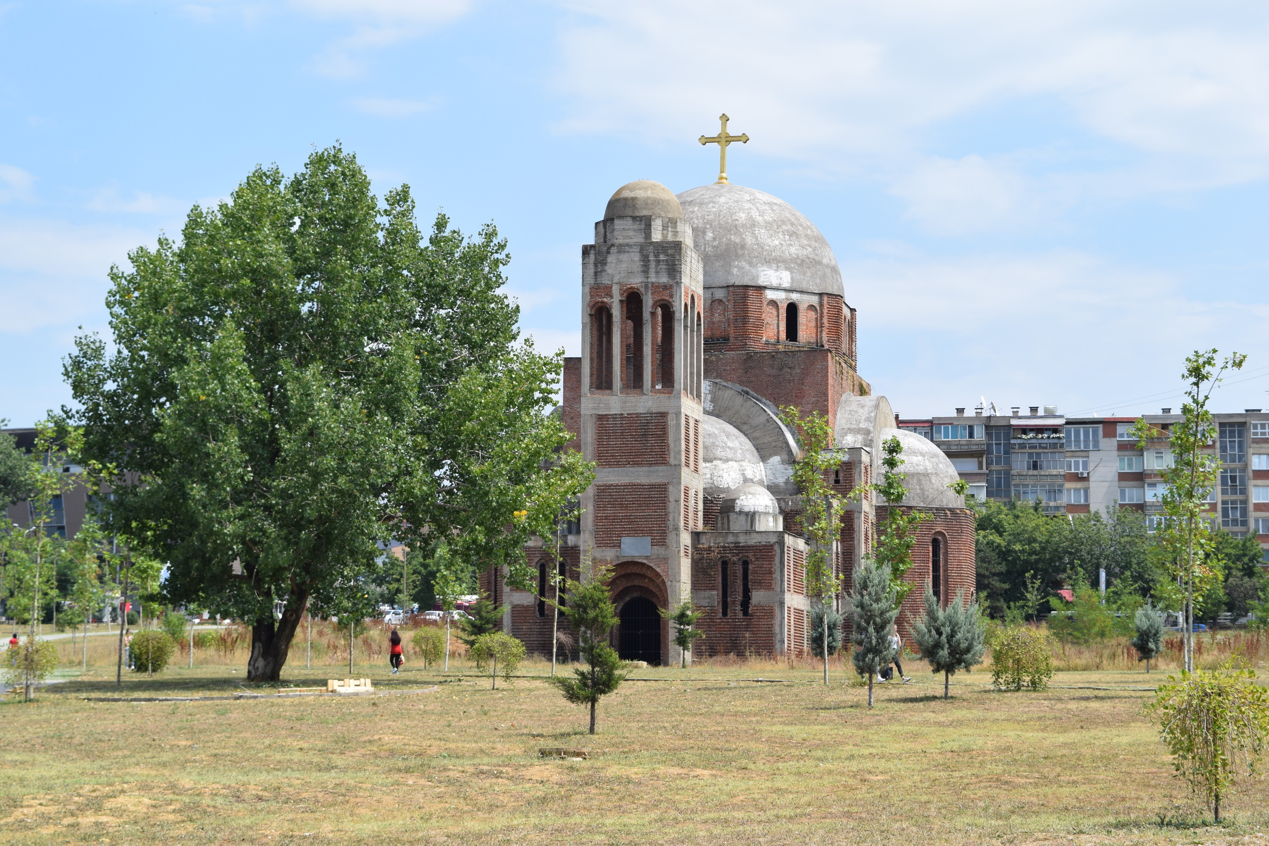 A Serbian Orthodox church left unfinished following the 1999 conflict