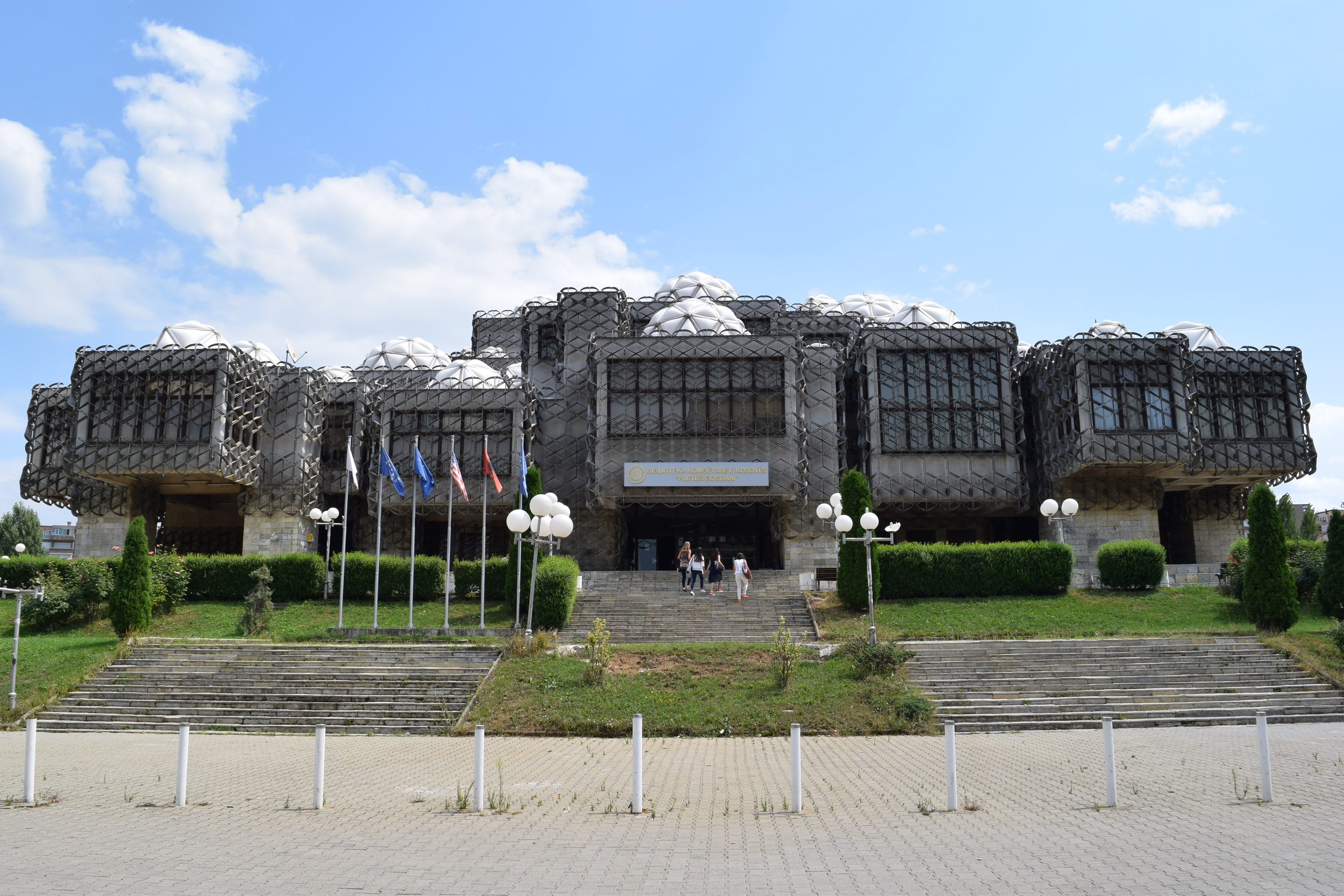 National Library of Kosovo from the front