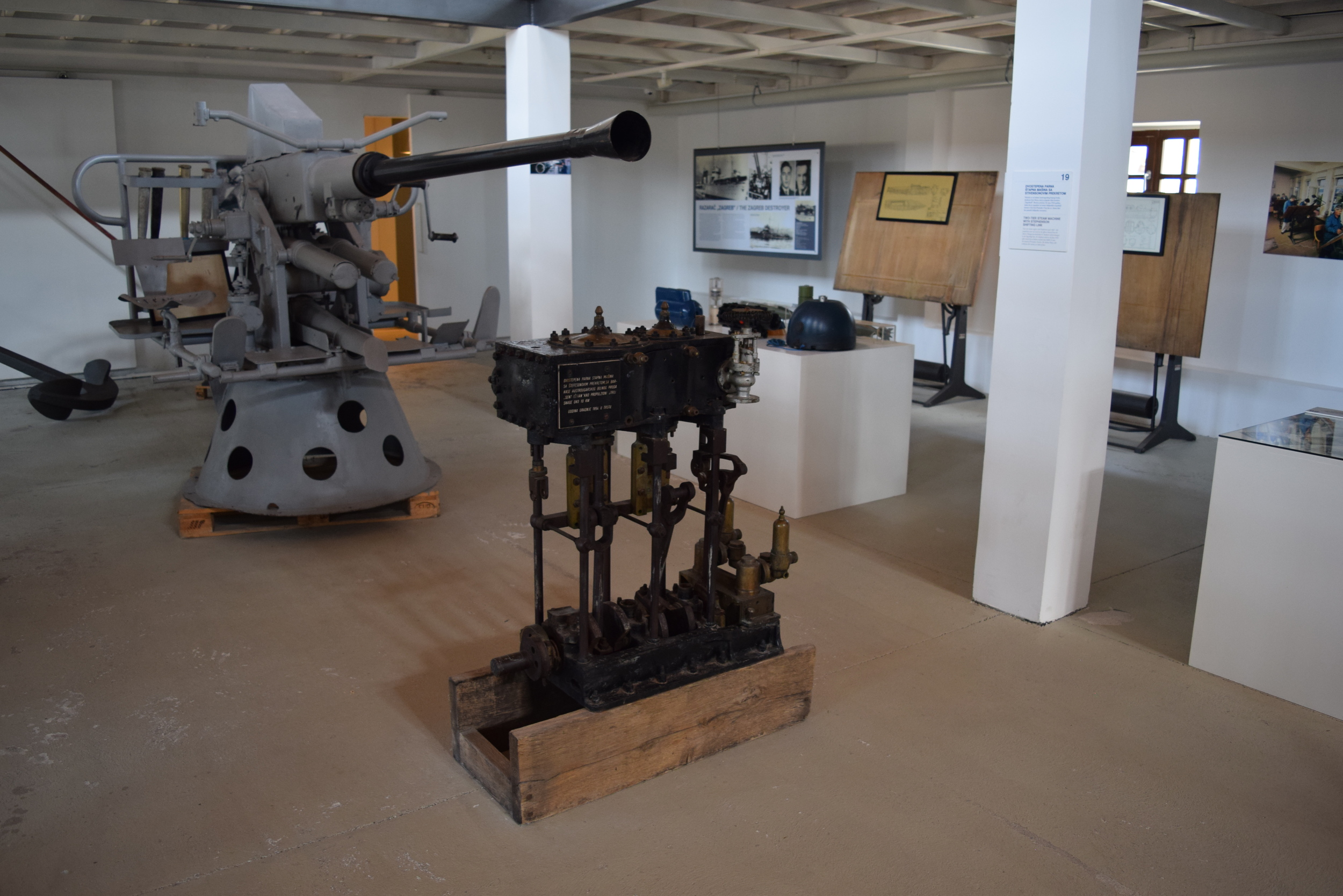 Naval objects on display