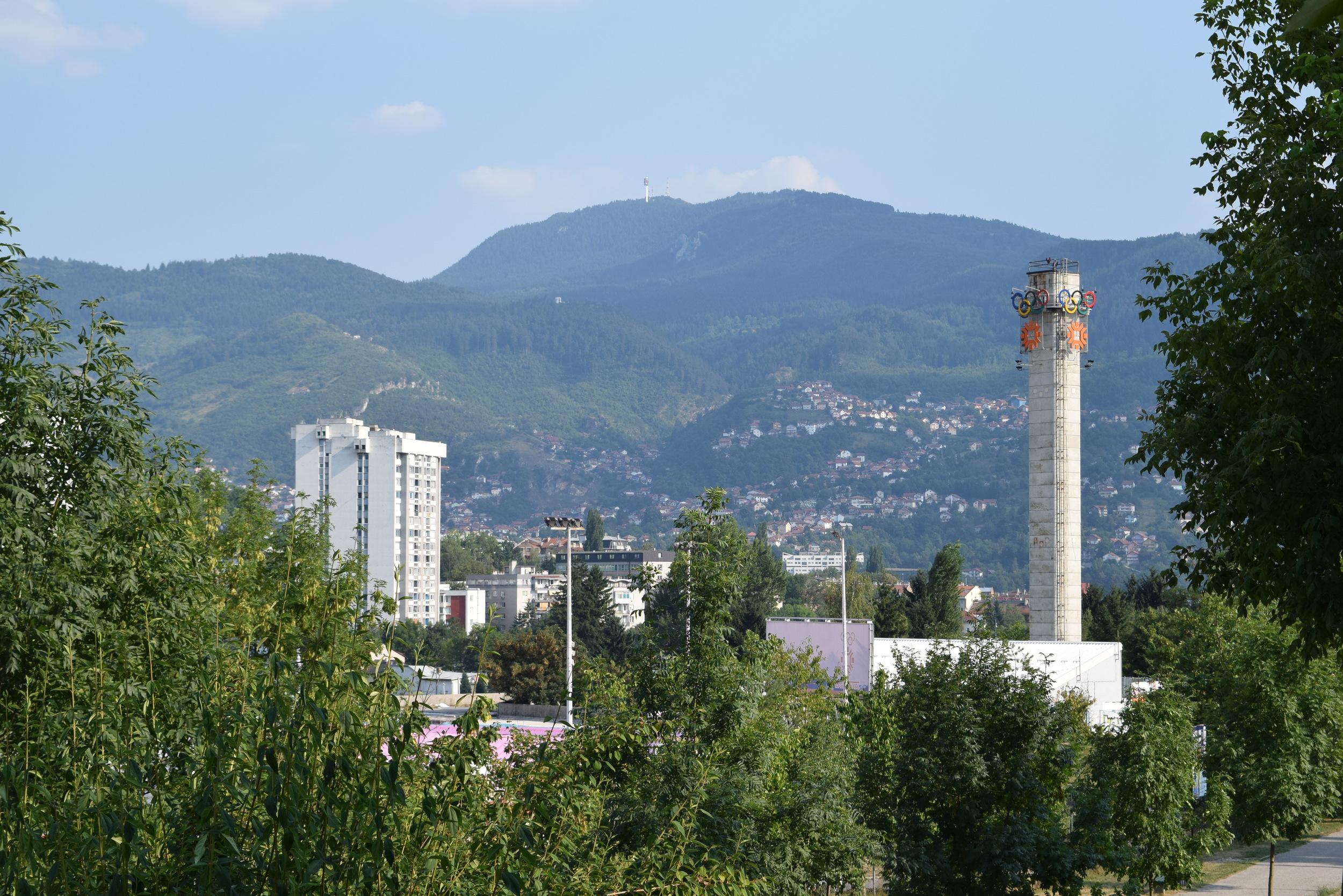 Sarajevo city and hills