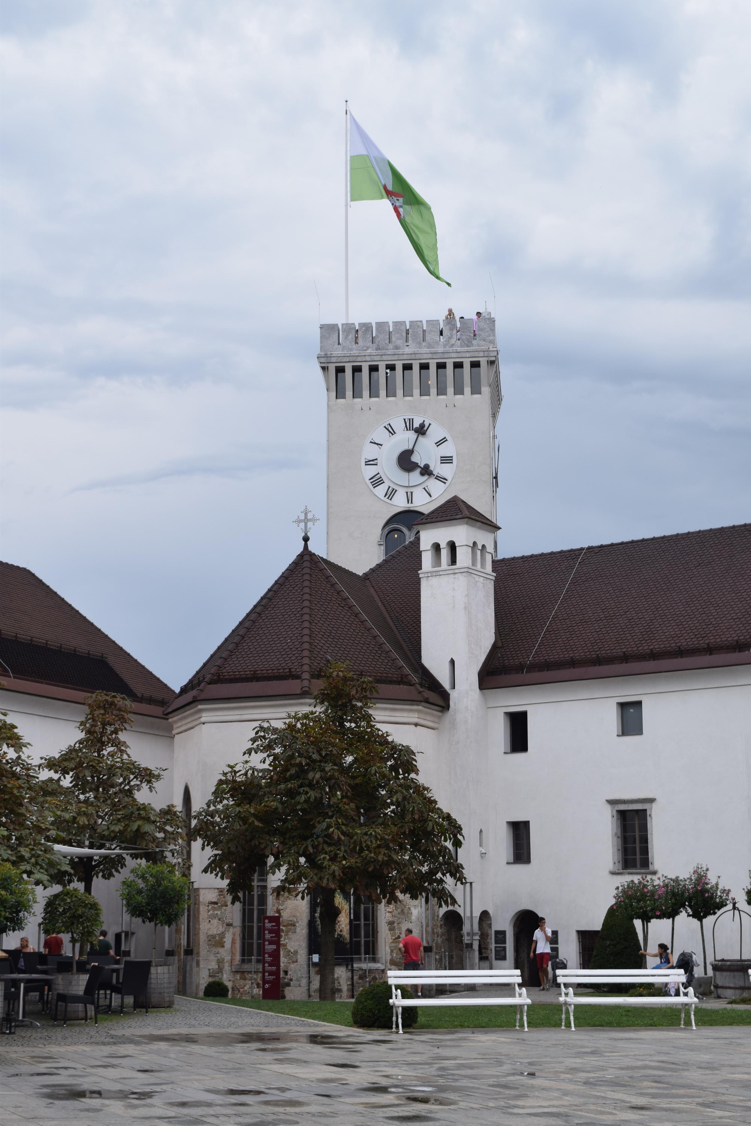 The watch tower of Ljubljana Castle