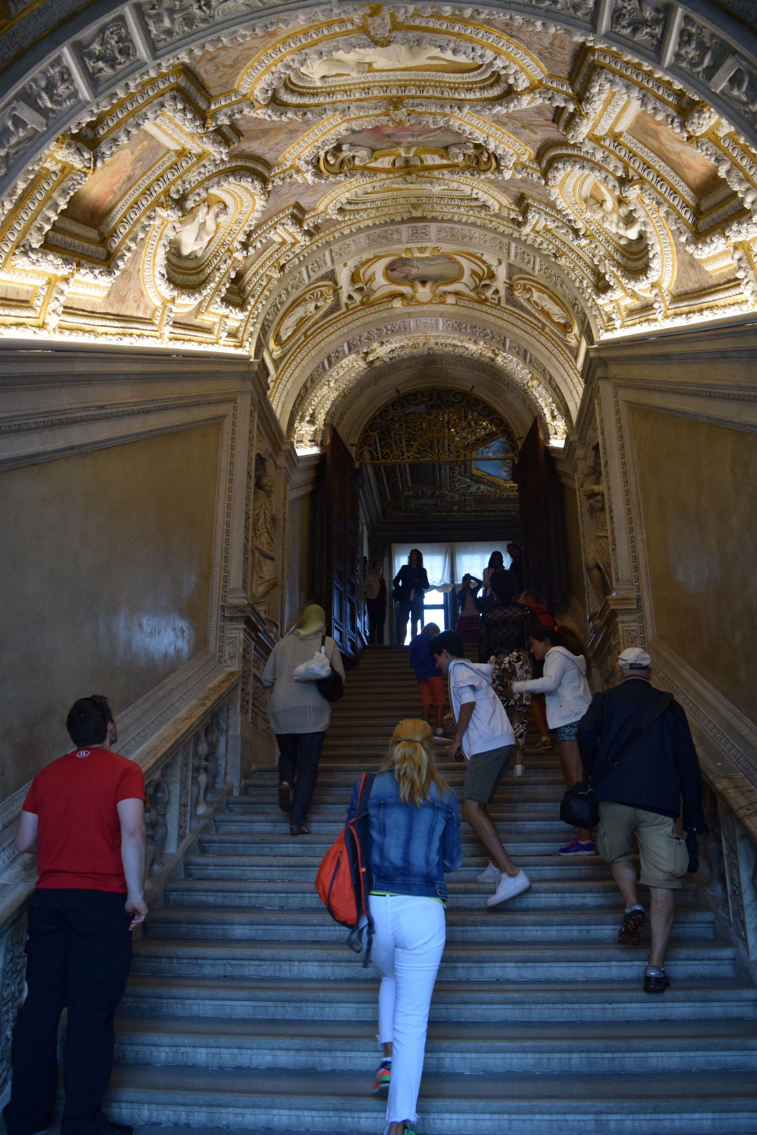 The Golden Staircase leading to the upper floors of the palace