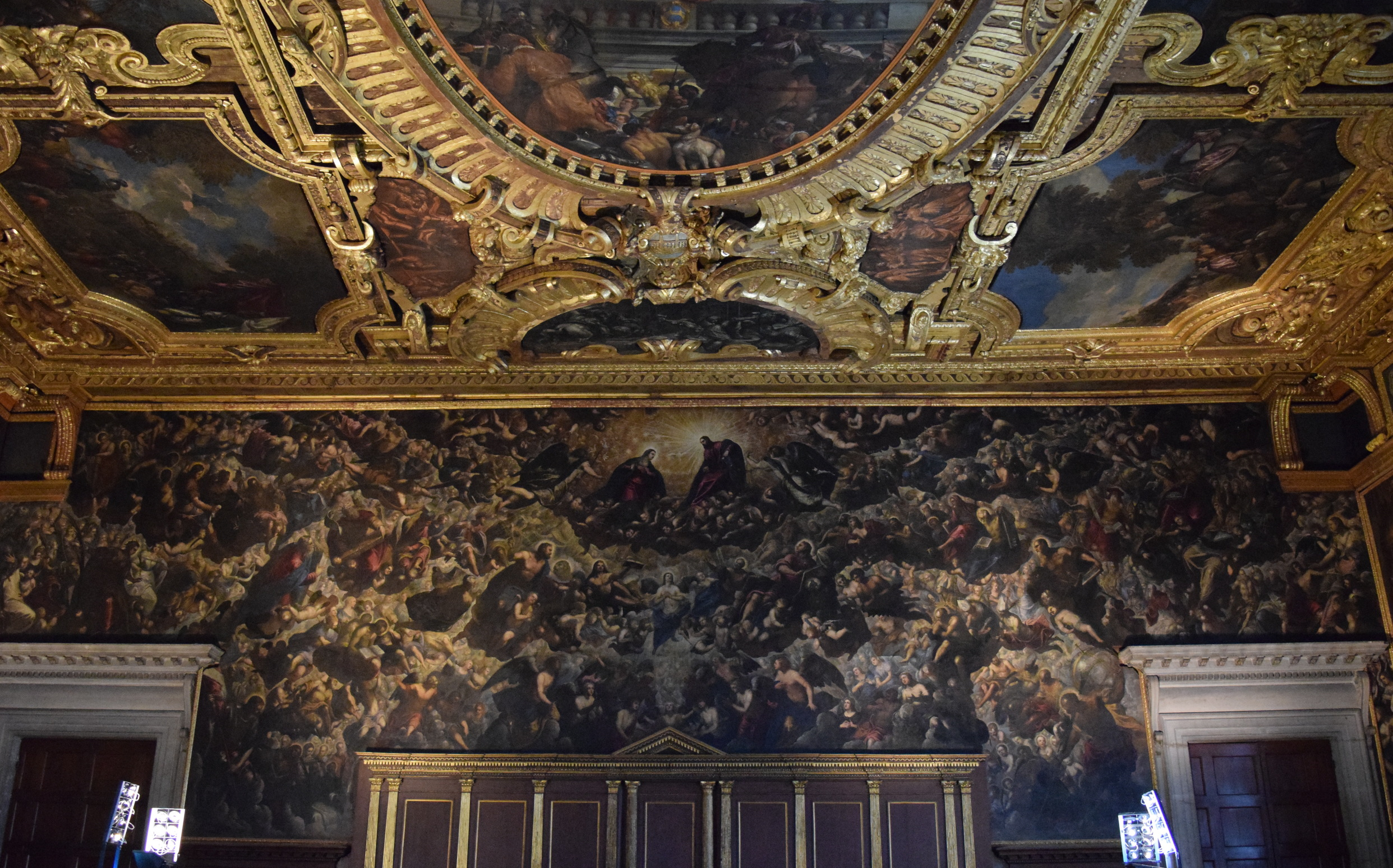 Il Paradiso by Tintoretto is the focal point of the Great Council Chamber and the largest canvas painting in the world