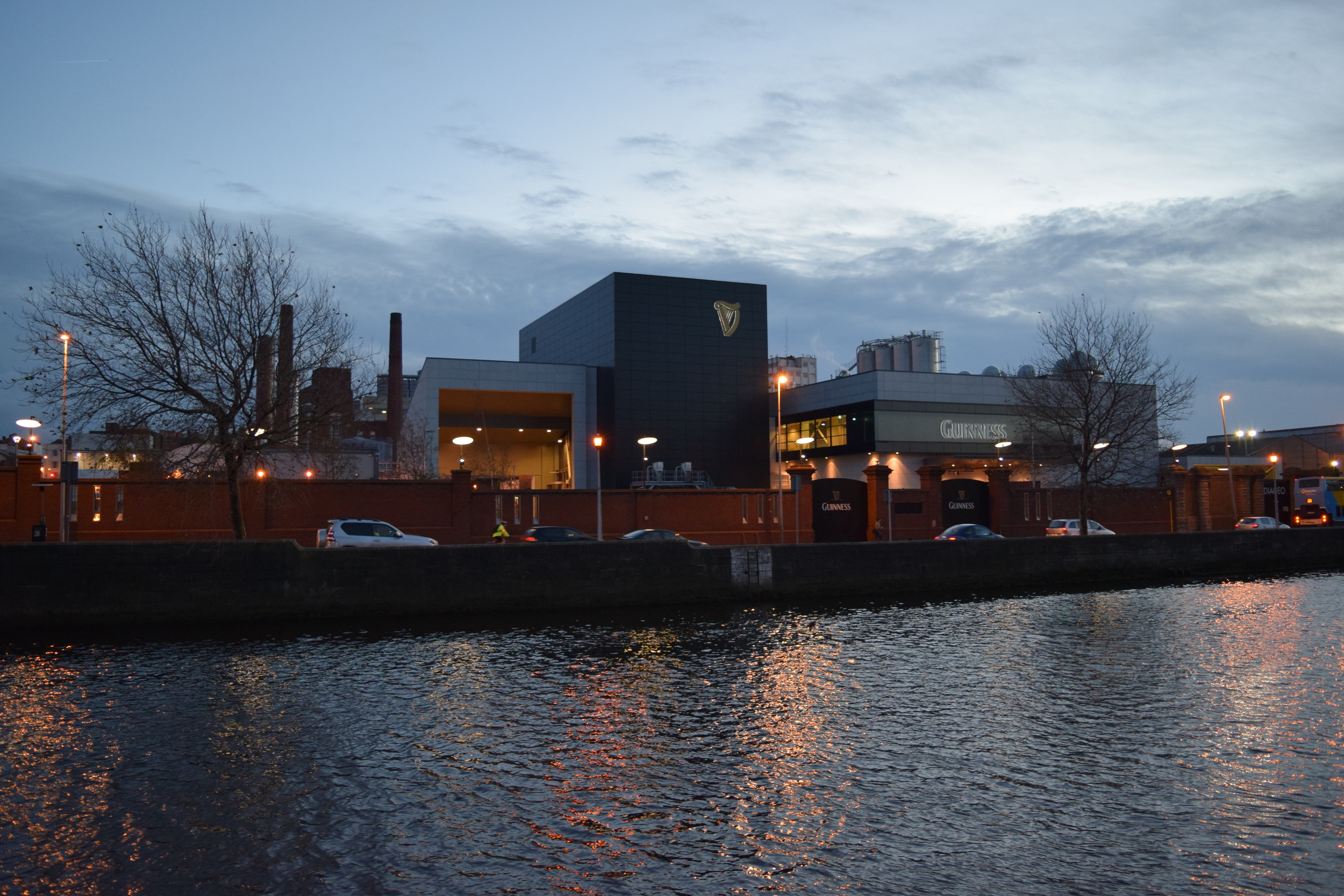 A portion of the Guinness Brewery as viewed from the River Liffey