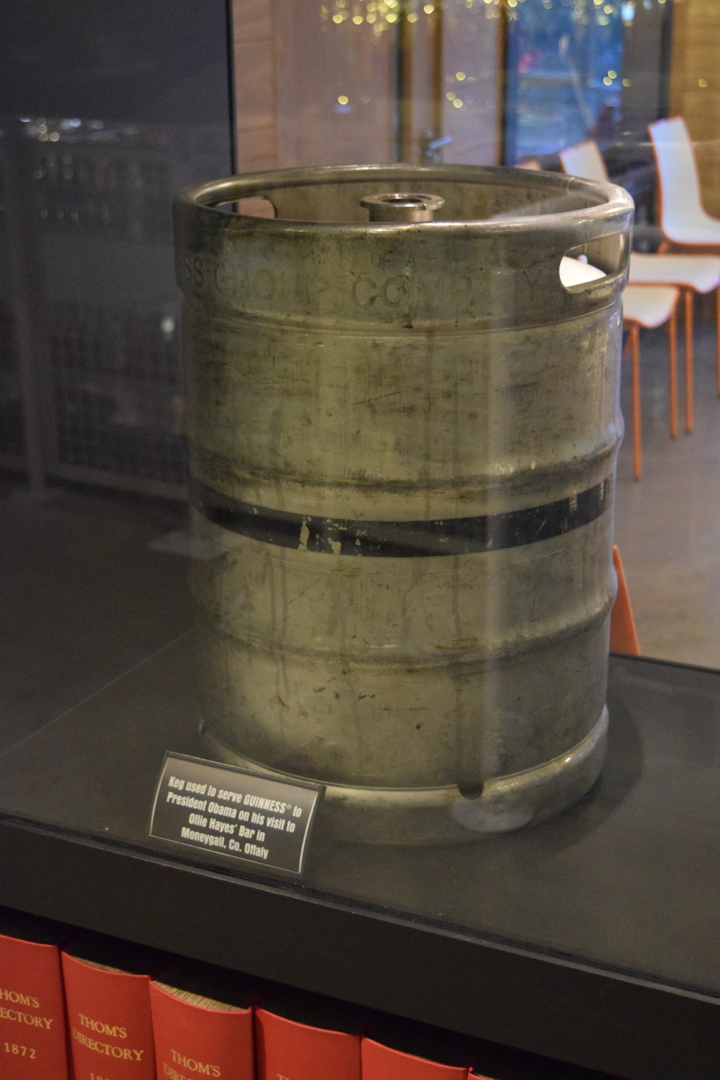 """When Barack """"O'Bama"""" Obama drinks from your keg you better put it in your company archives"""