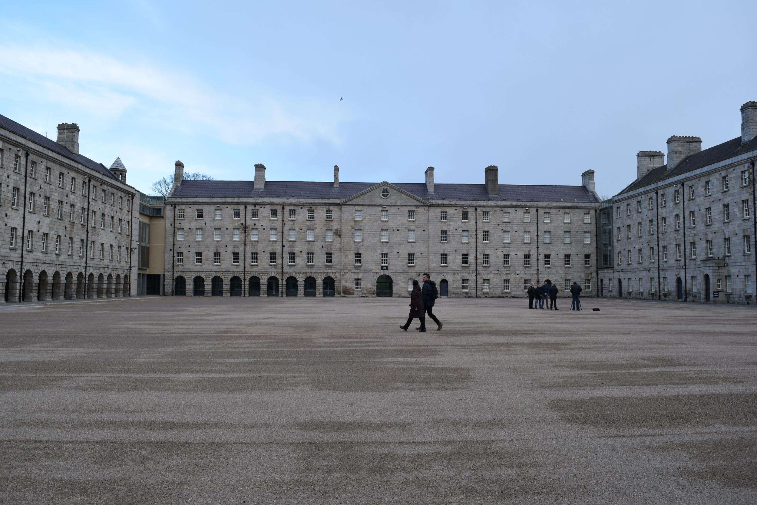The former Collins Barracks' parade deck
