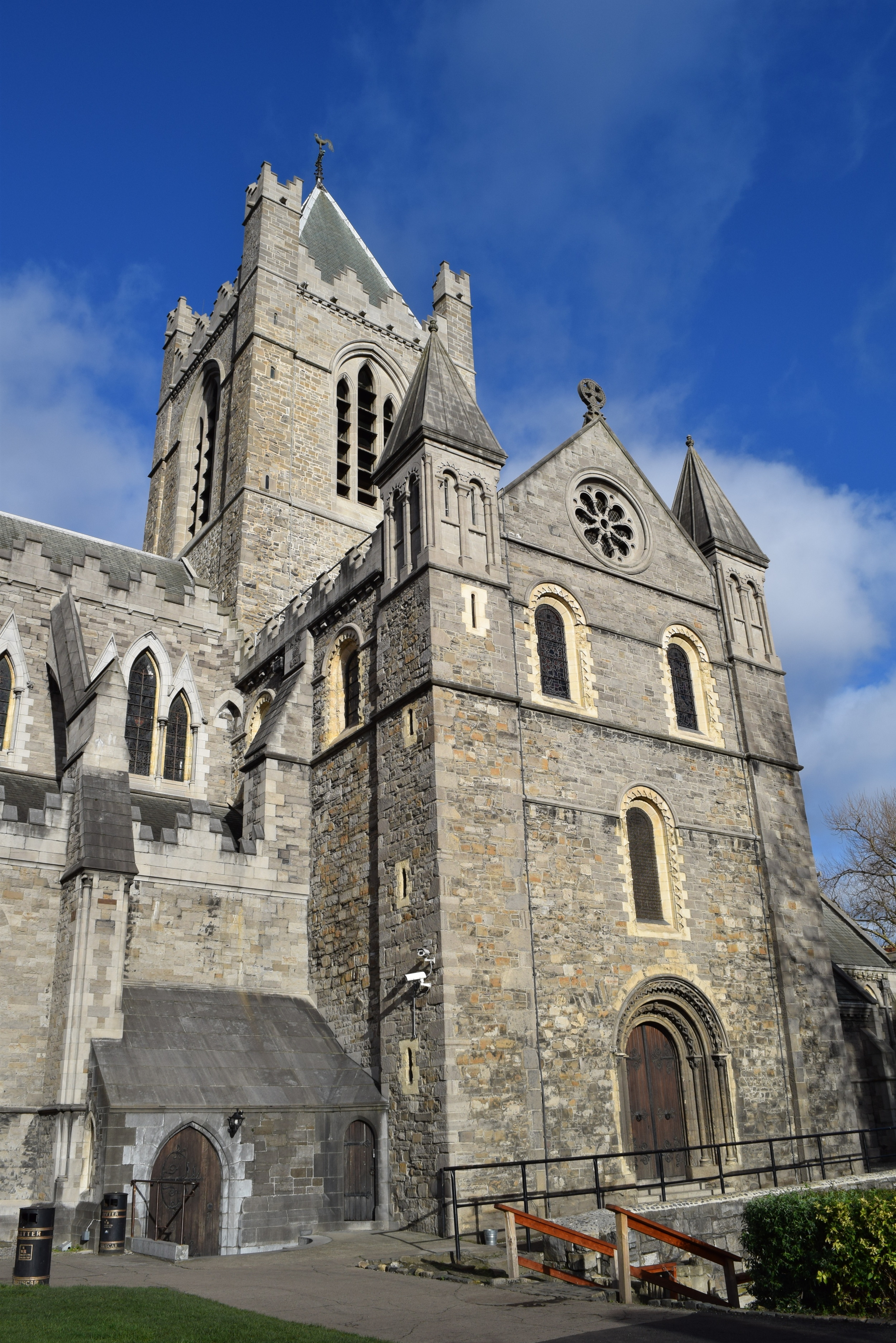 Christ Church Cathedral with a surprising amount of blue sky in the background