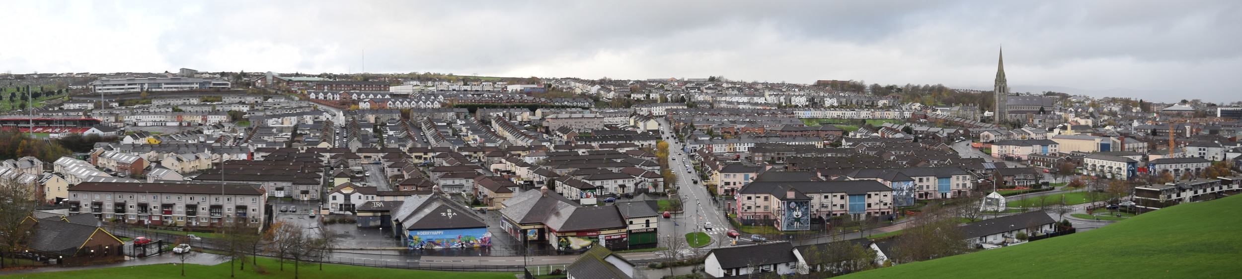 The Bogside in Derry viewed from the city walls