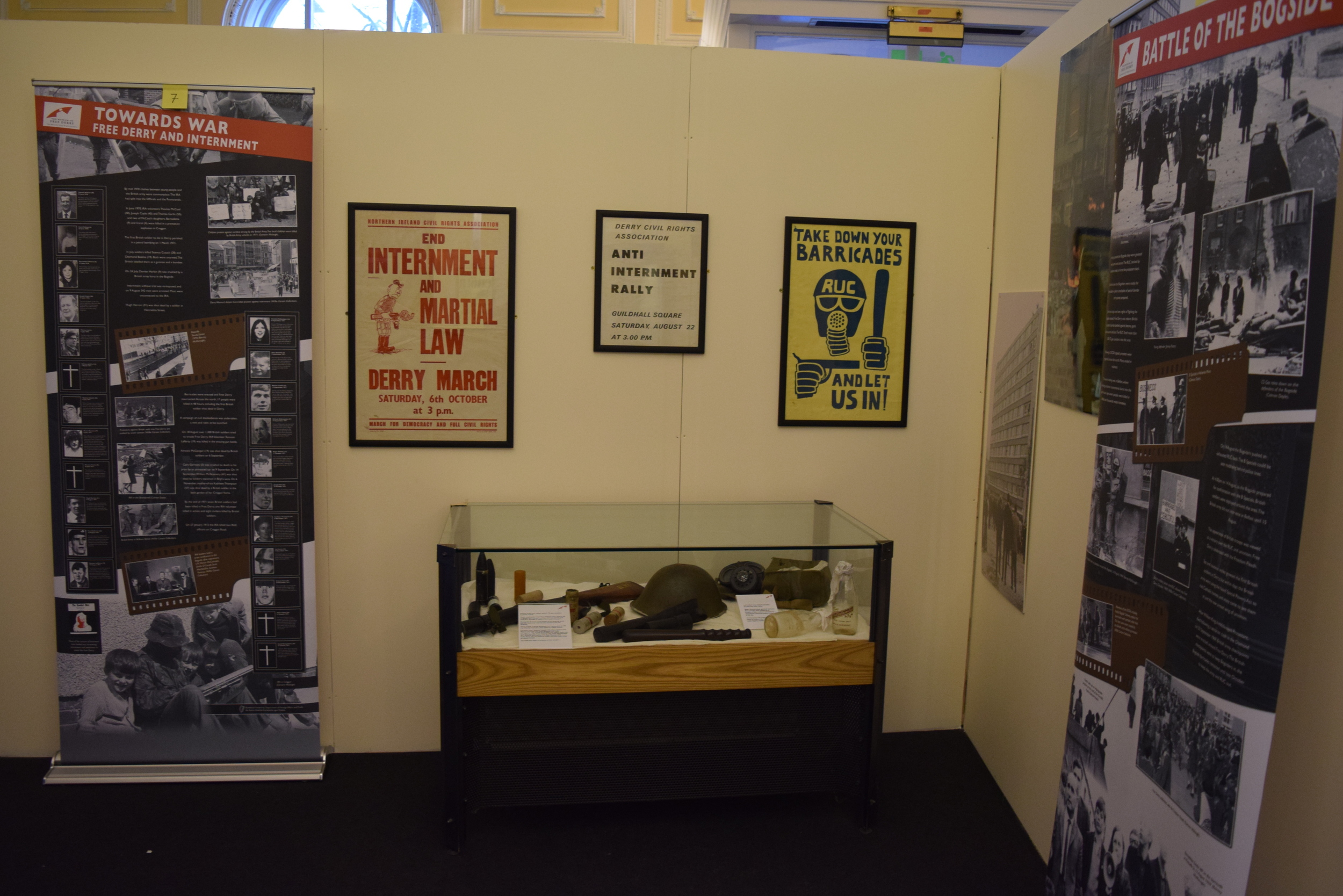 Displays in the Museum of Free Derry
