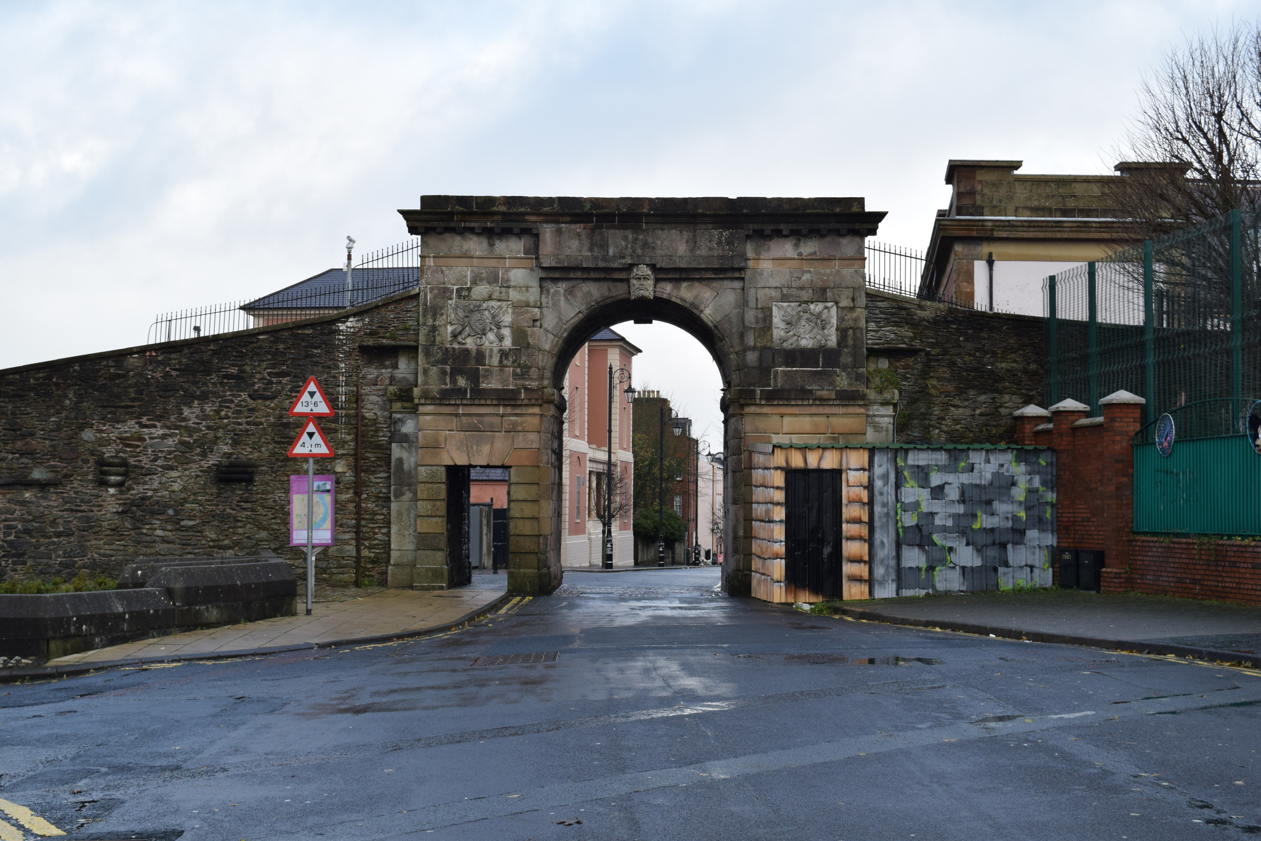 Derry city walls and gate