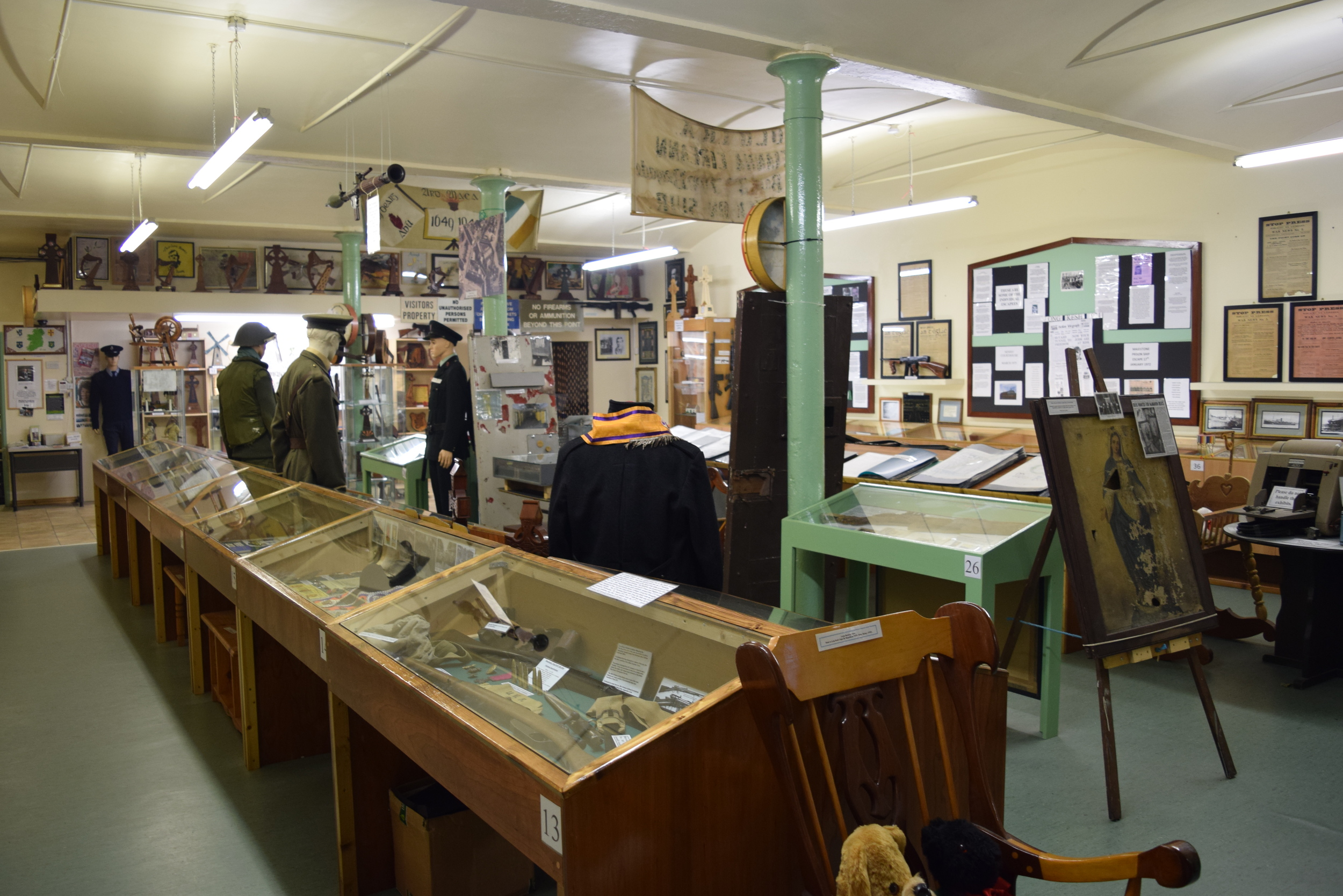 Displays in the small, but dense, Irish Republican History Museum