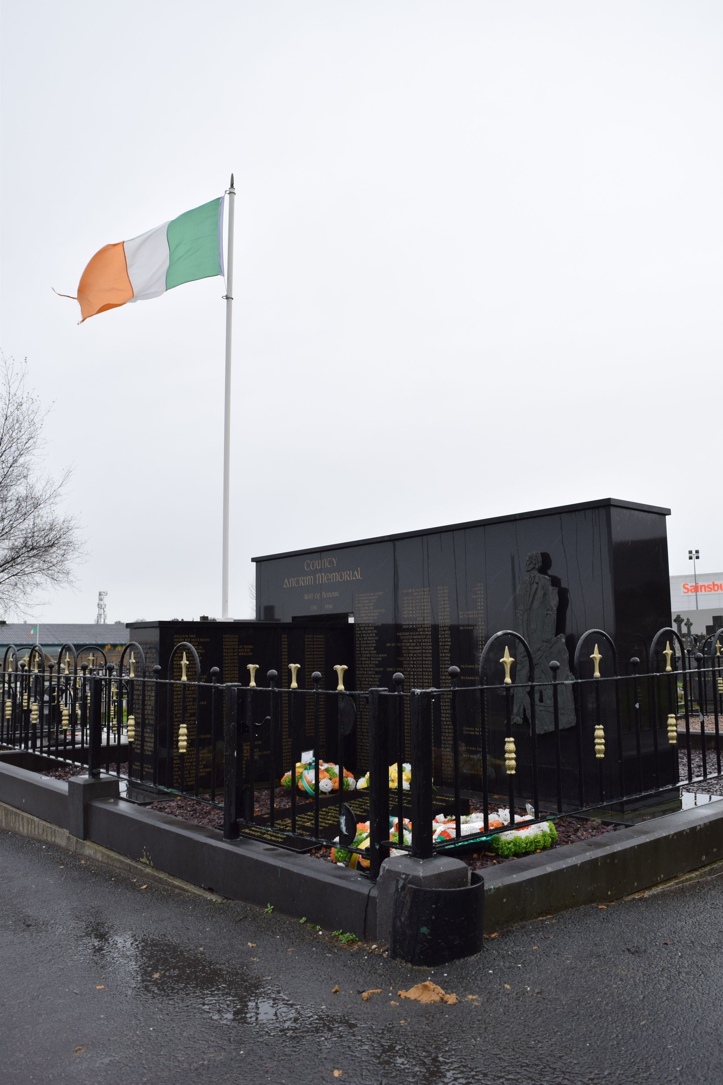 A portion of the republican section at Milltown Cemetery