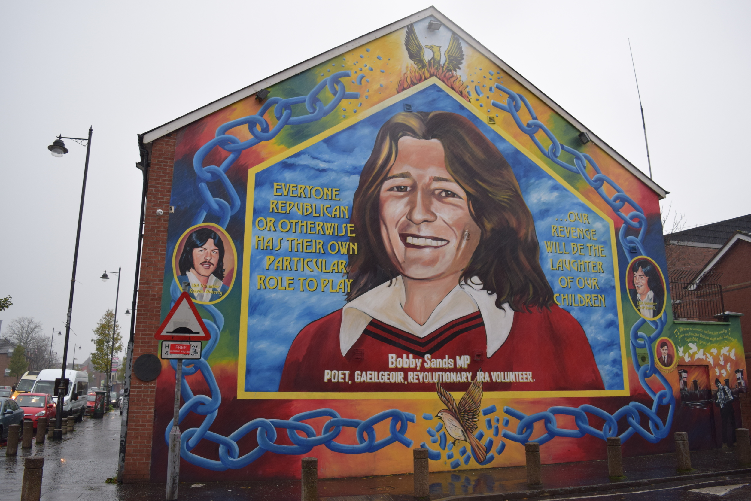 Bobby Sands was an IRA member serving a prison term at the Maze Prison who died after 66 days on hunger strike. During the strike he was elected to the British parliament.