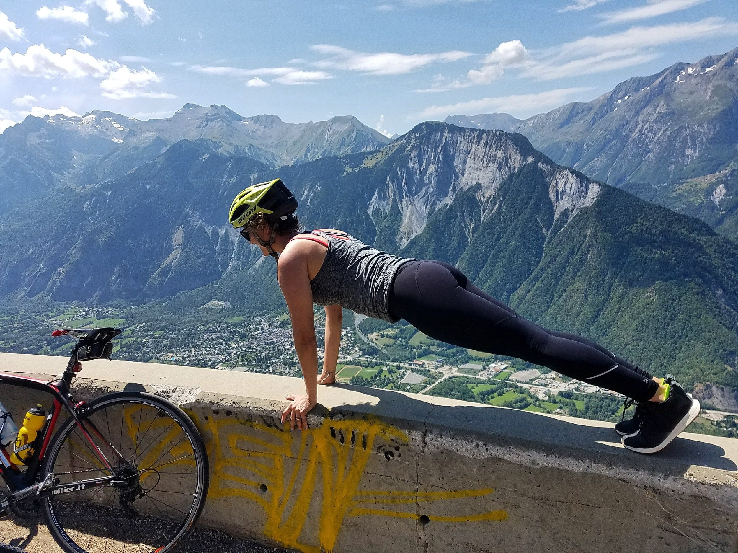 E-Biking + Planking in the French Alps!