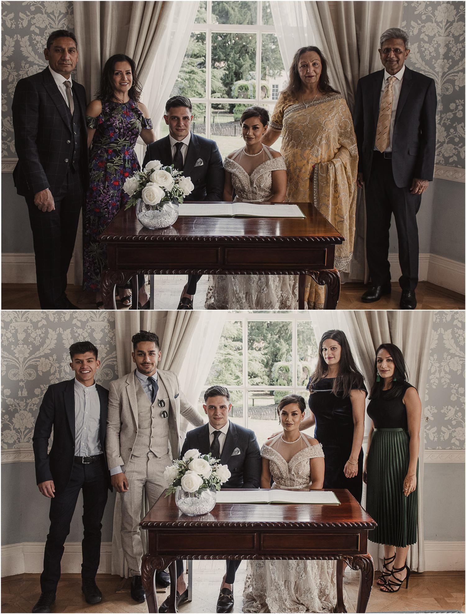 Langtons House family wedding photos