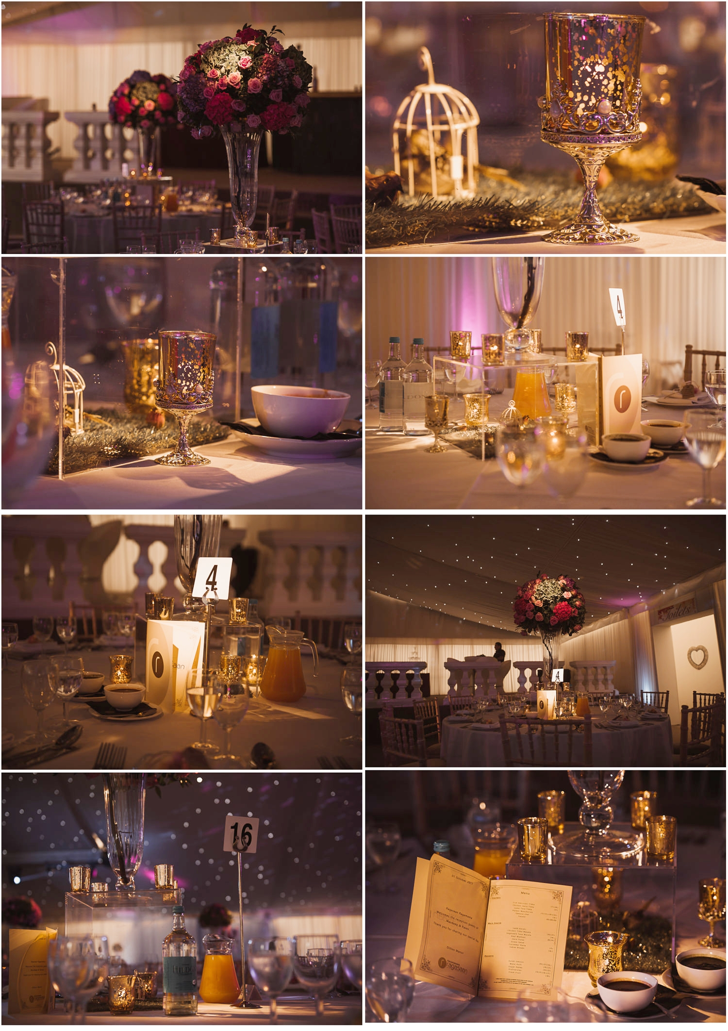 Reception details at Indian wedding