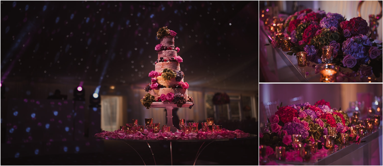 Wedding cake pictures at reception