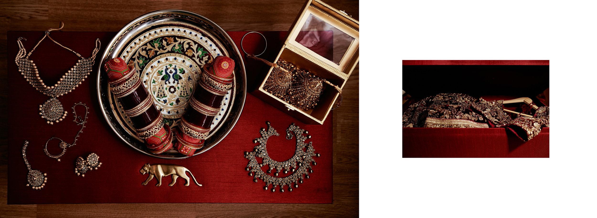 Sikh Wedding Album spread 2 - bride details