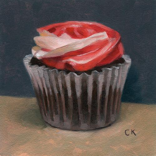 Kornacki Wabisabi Painting the Roses Red Cupcake