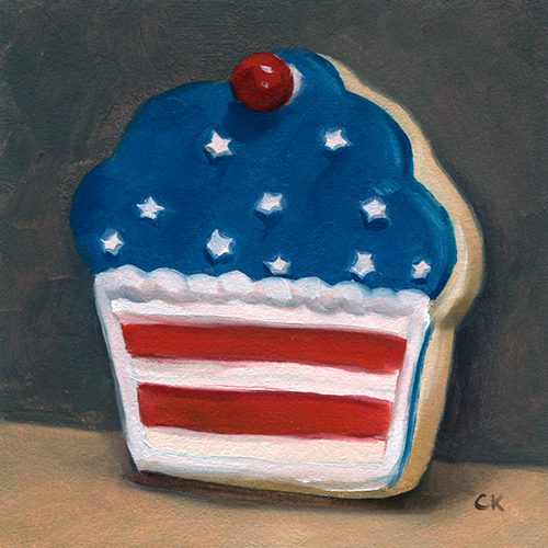 Kornacki Wabisabi Stars and Stripes Cookie