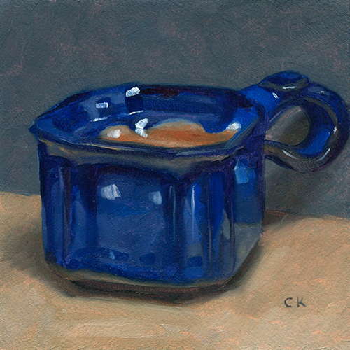 Kornacki WabiSabi Blue Ceramic Tea Cup