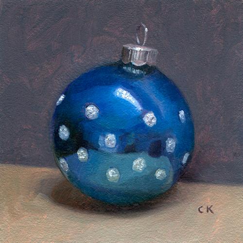 Kornacki Wabisabi Blue Christmas Ornament