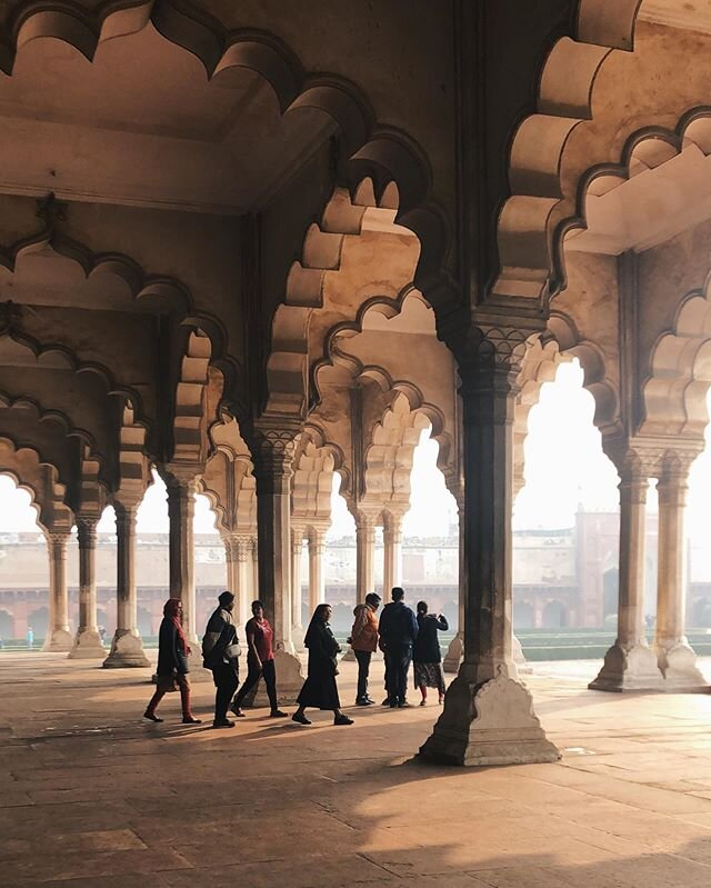 Diwan-i-Aam | Hall of Public Audience, Agra Fort  #WinterTravels #IndiaInMind #AgraFort #WinterLight