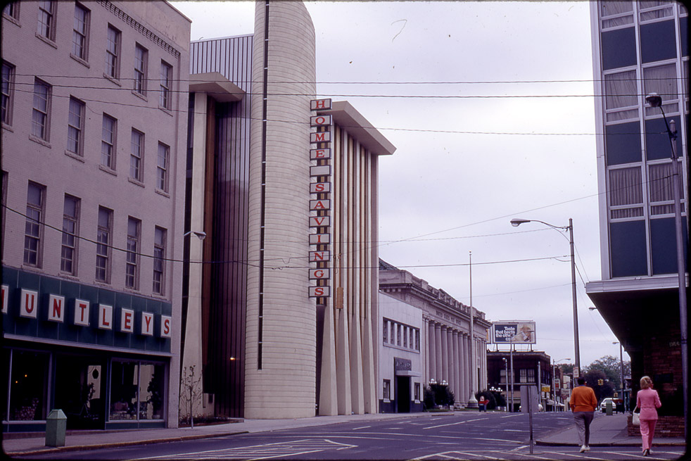 Home Savings and Loan Building in 1969, Courtesy Durham County Library