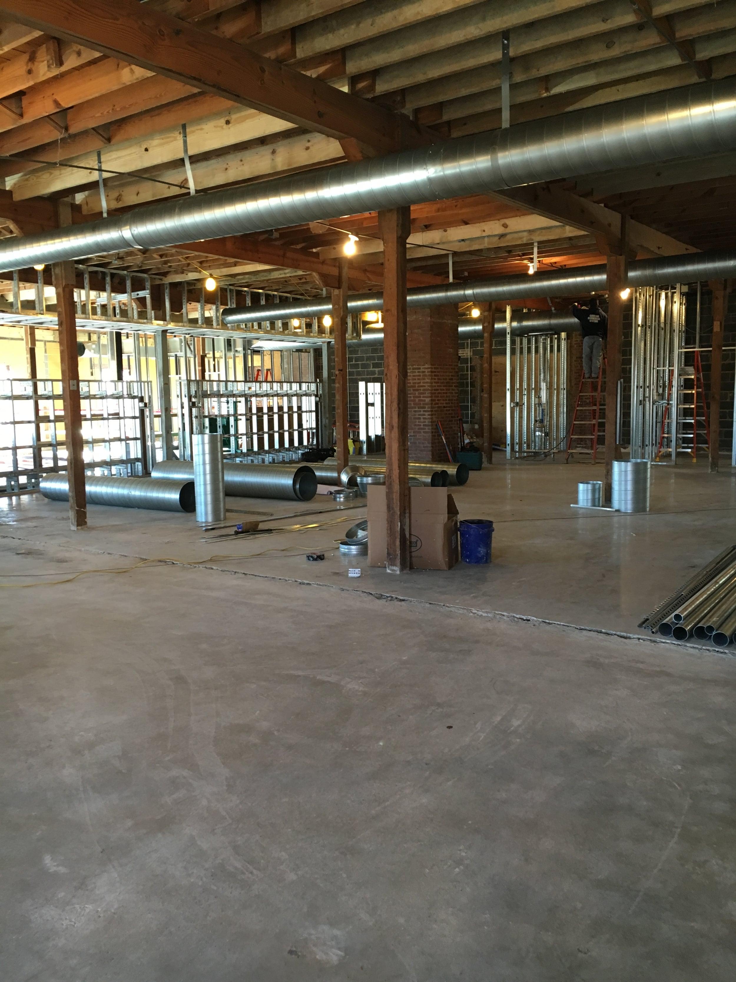 Second floor open work space.