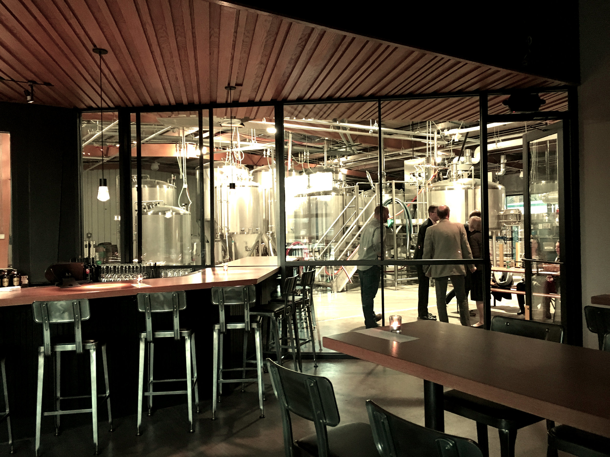 Connection between the taproom and brewery spaces.