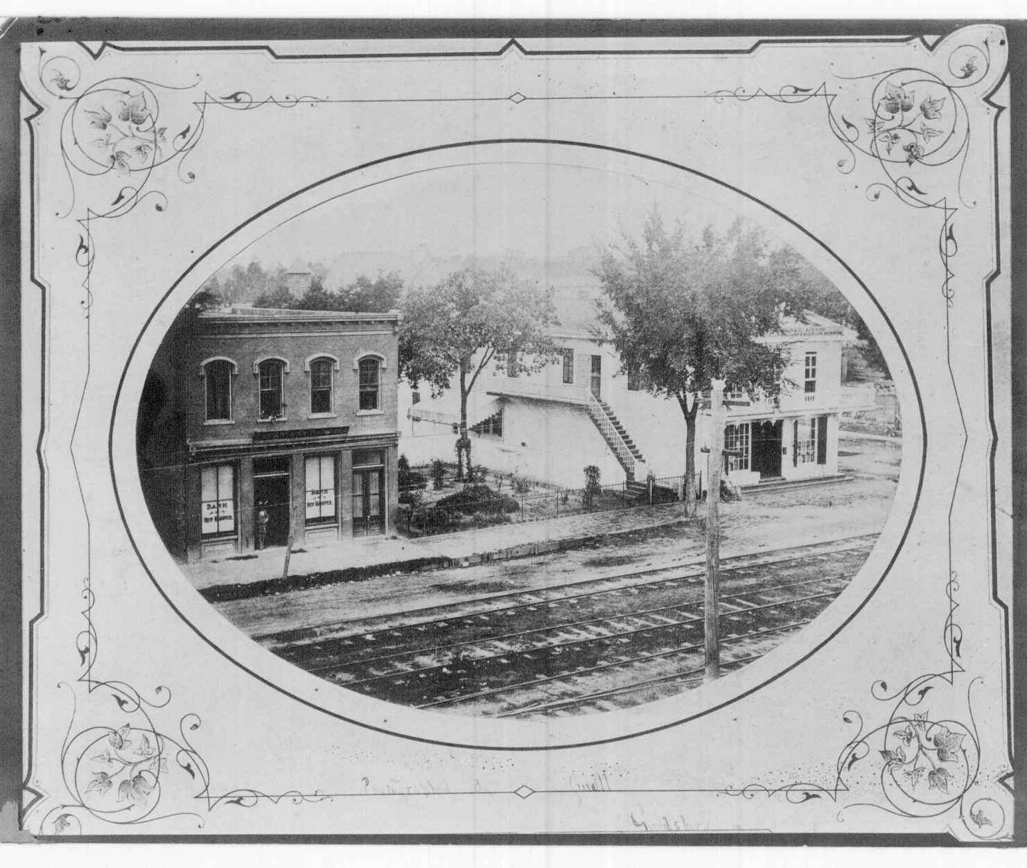 The original facade (left)