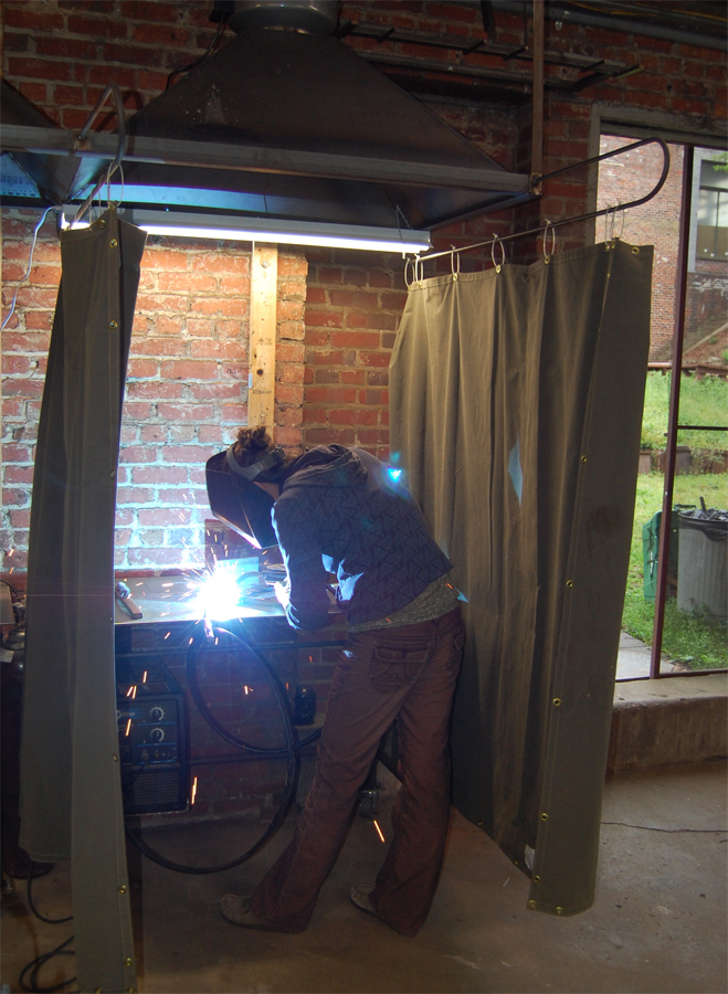 Jackson learns to weld