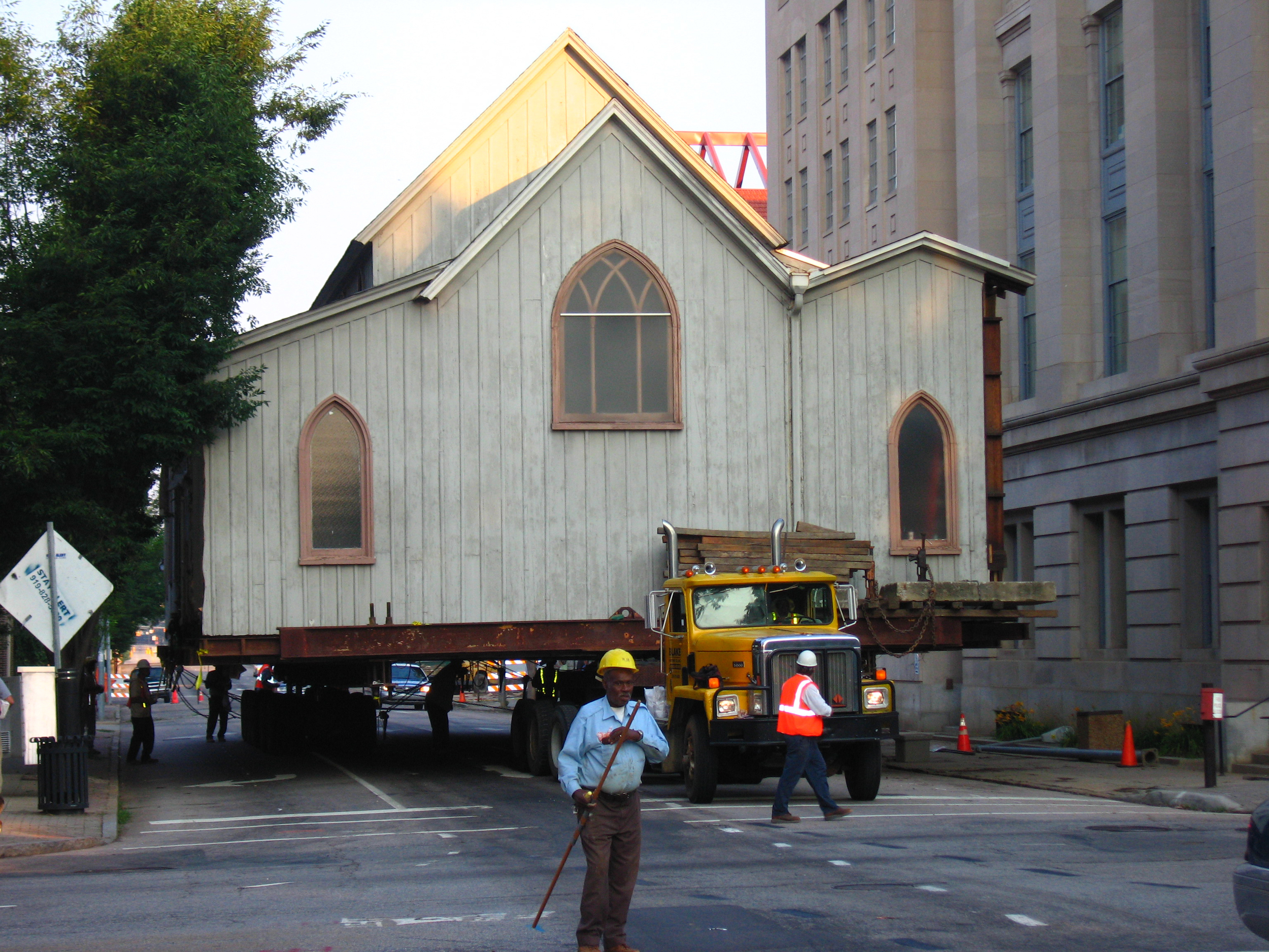 The Chapel during the move to S. East Street
