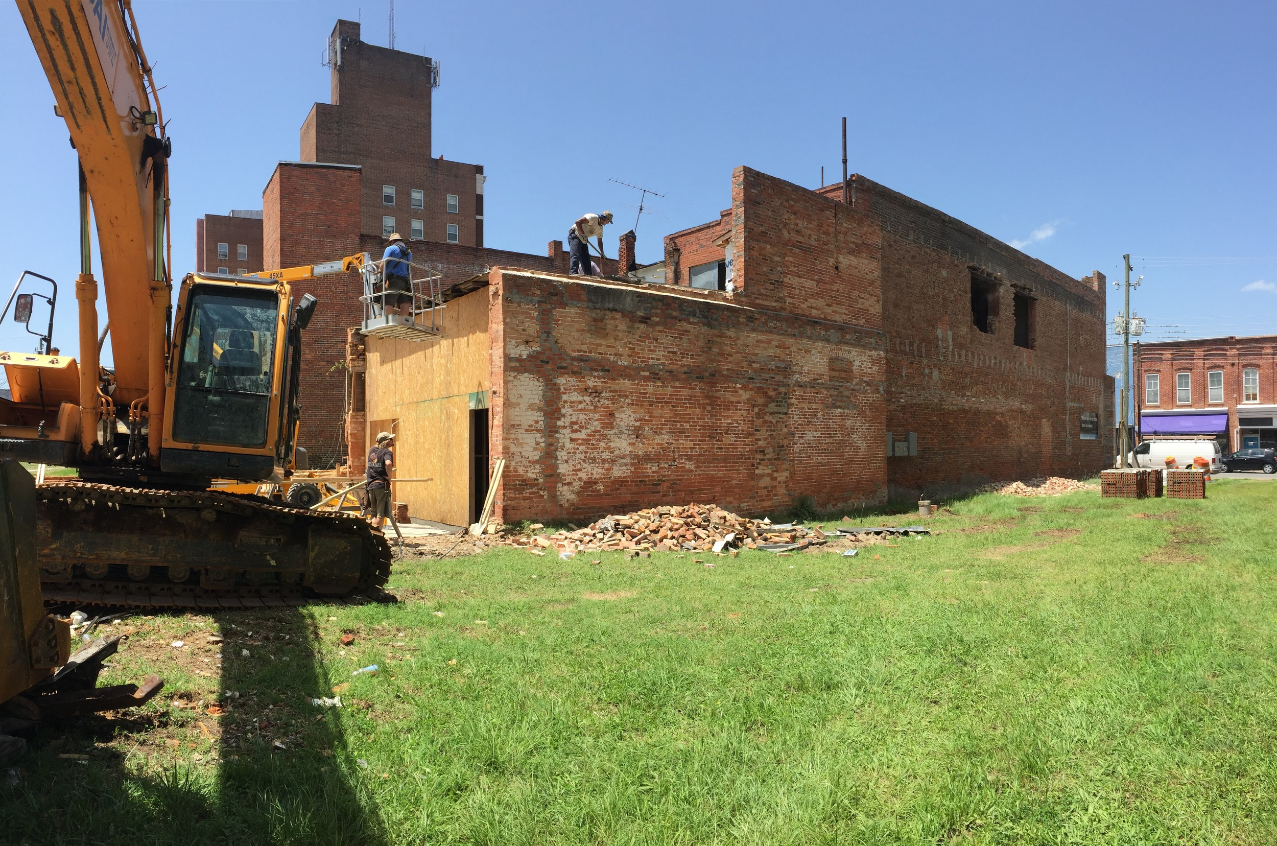Removal of rear addition, July 2016
