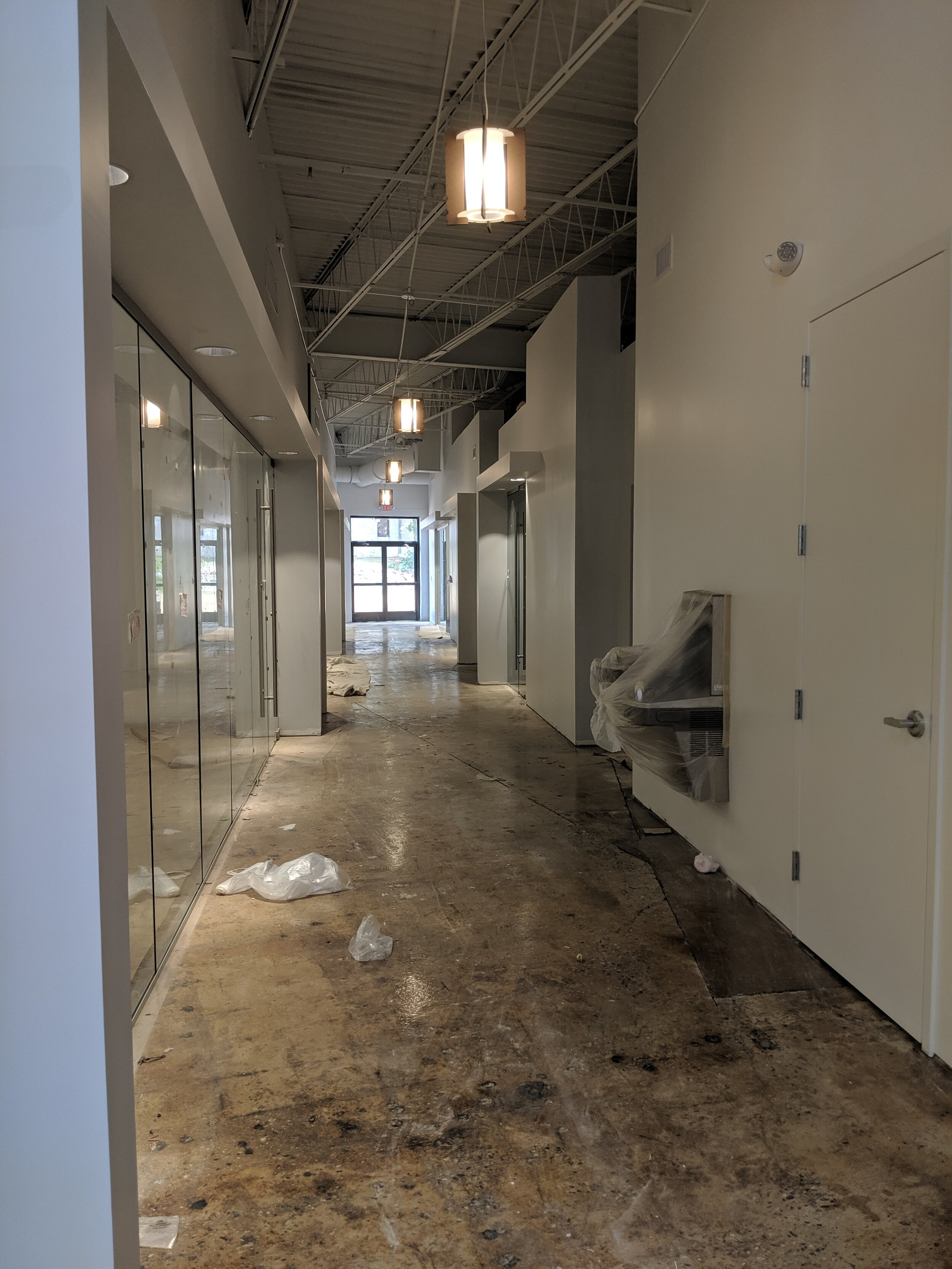 Conference room hallway