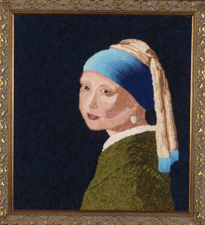 """Girl with a Pearl Earring"" 2006  Adaptation from Jan Vermeer, 1665"