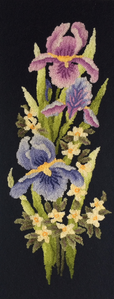 """Spring is Here, Irises"" designed by Jane McGowan Flynn"