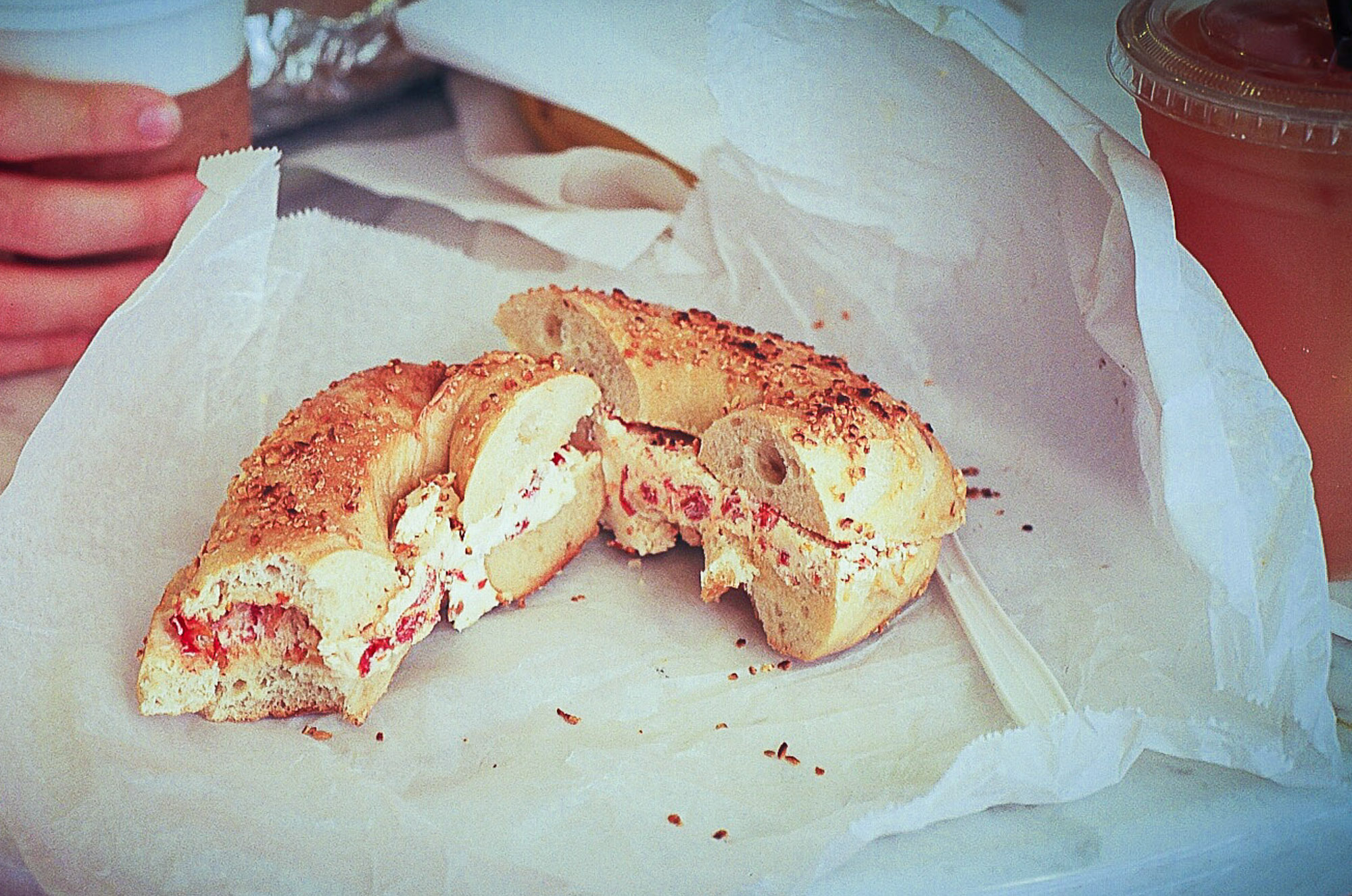 They took me to my 1st New York bagel.