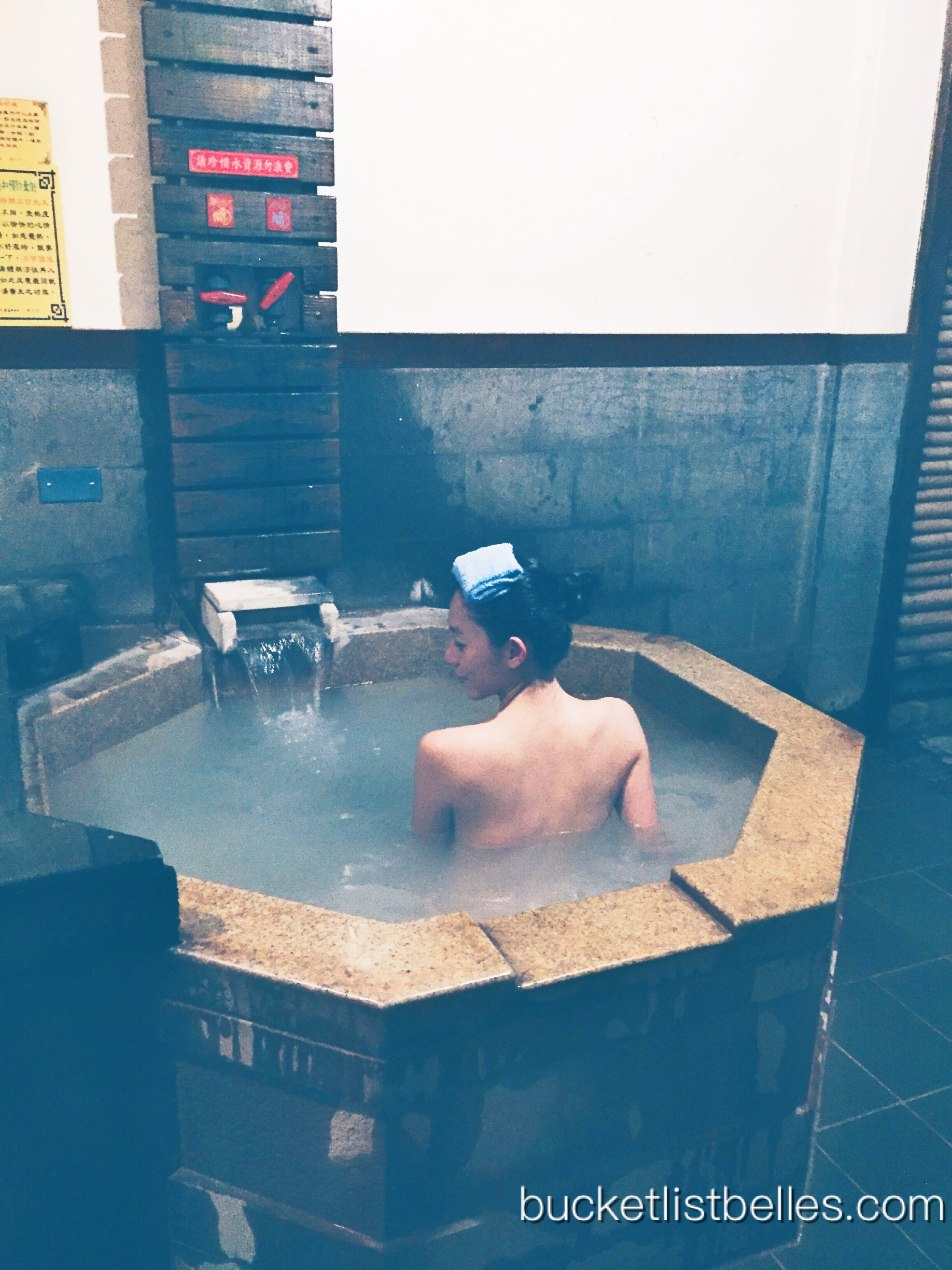 "My own private onsen at my ""ooh-ahh"" temperature"