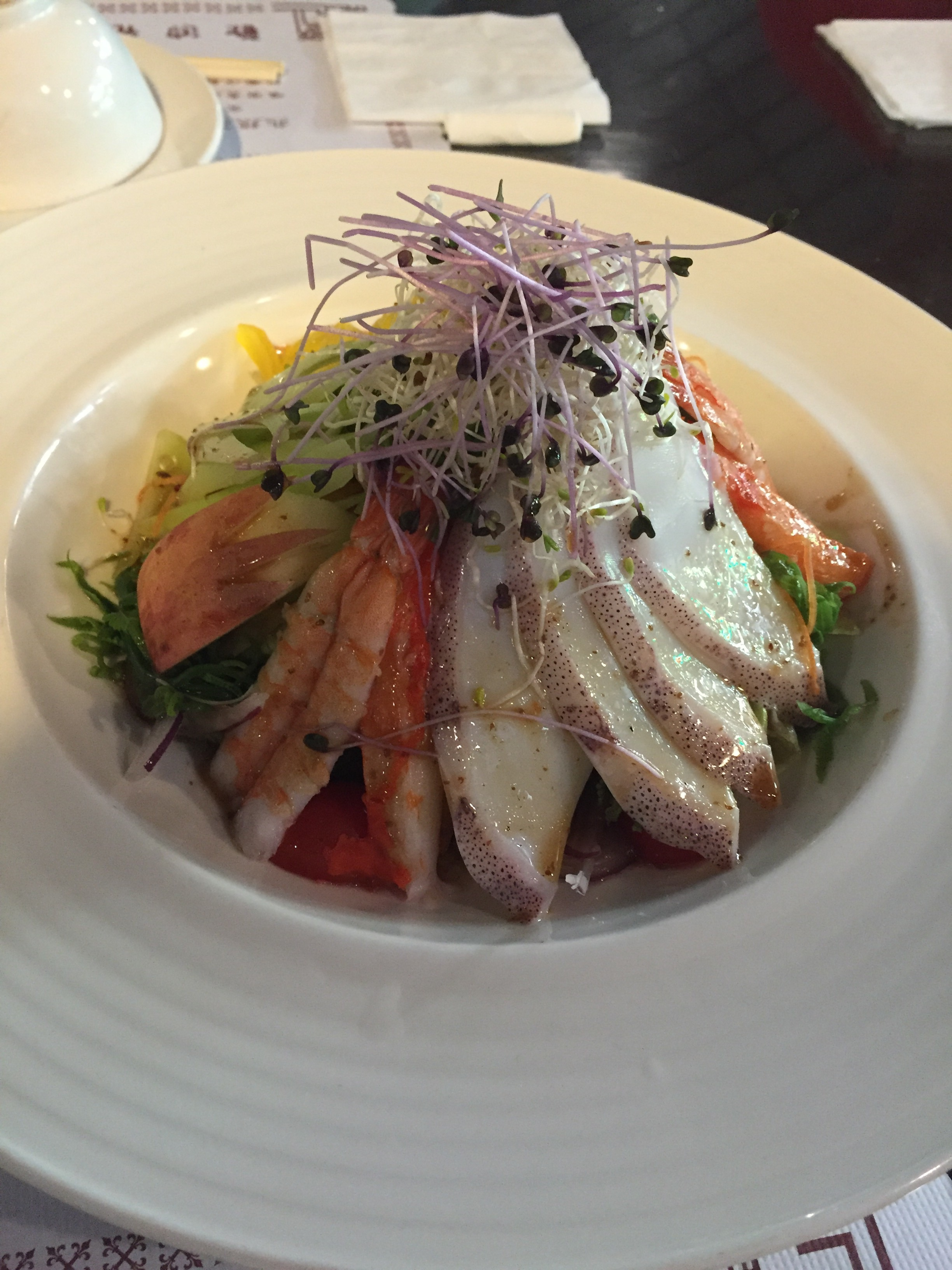 Seafood salad with Japanese-styled dressing