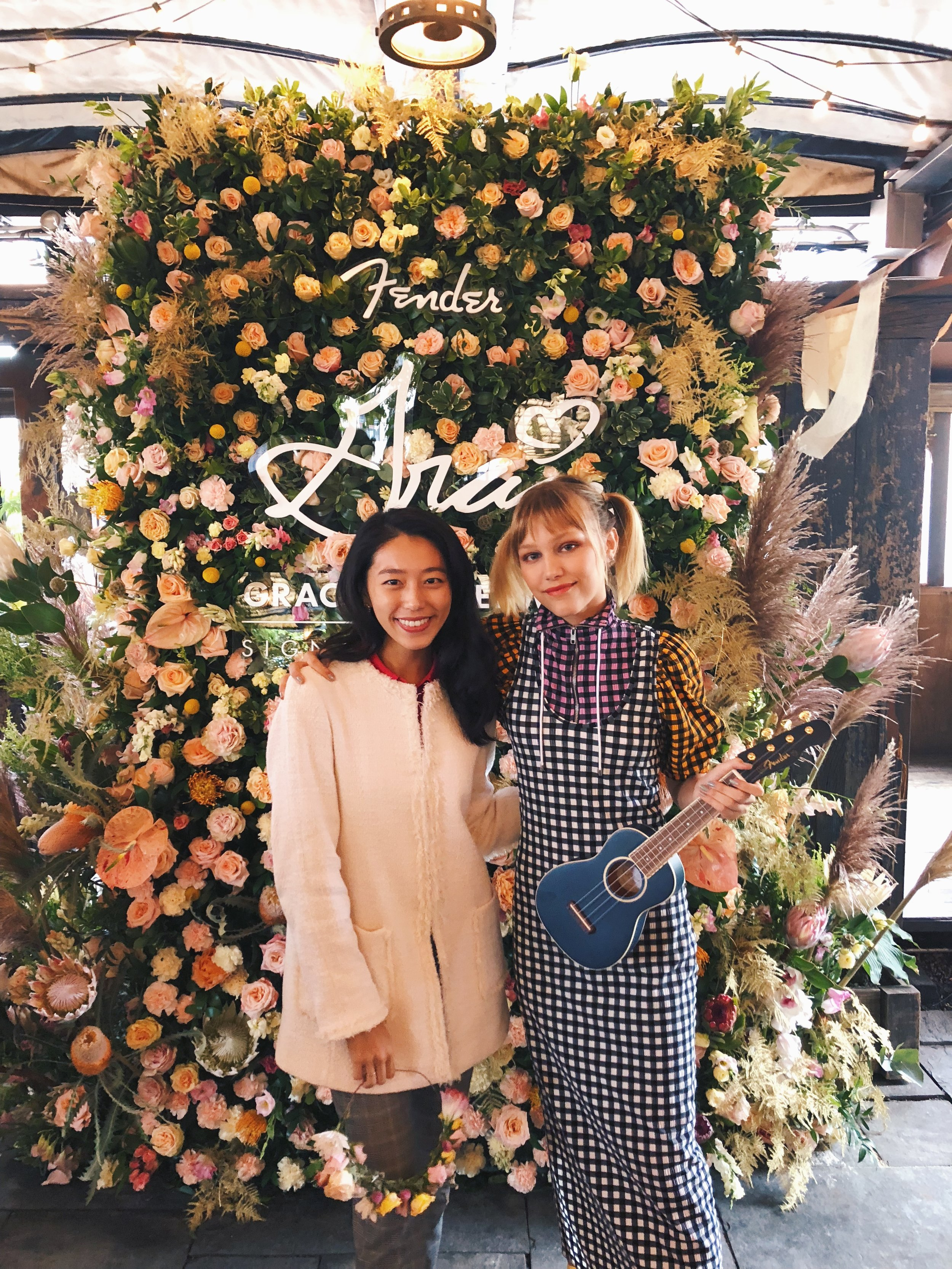 With Grace Vanderwaal. She is so sweet and talented!